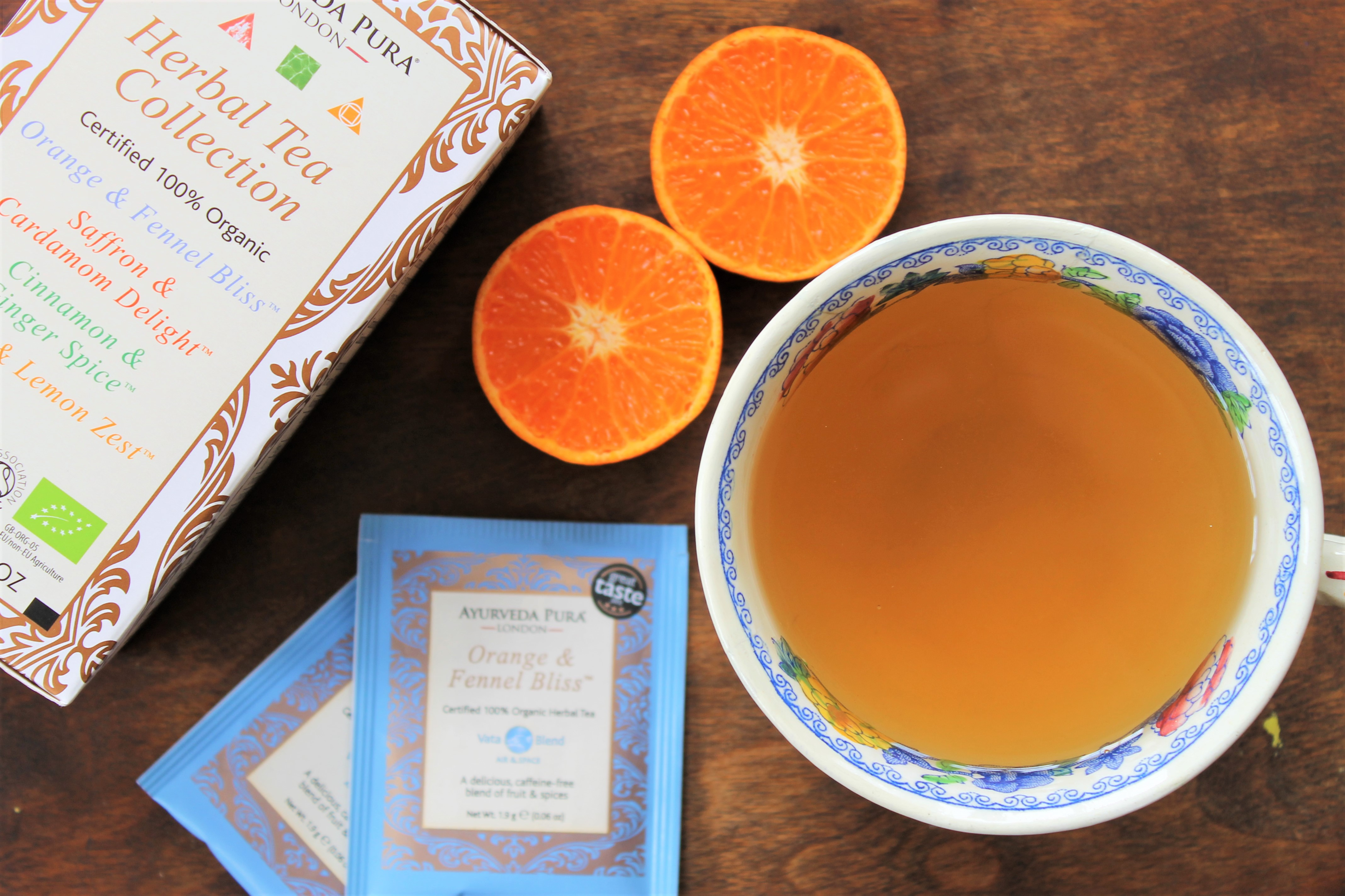 Ayurveda Pura Orange and Fennel Bliss Tea Review