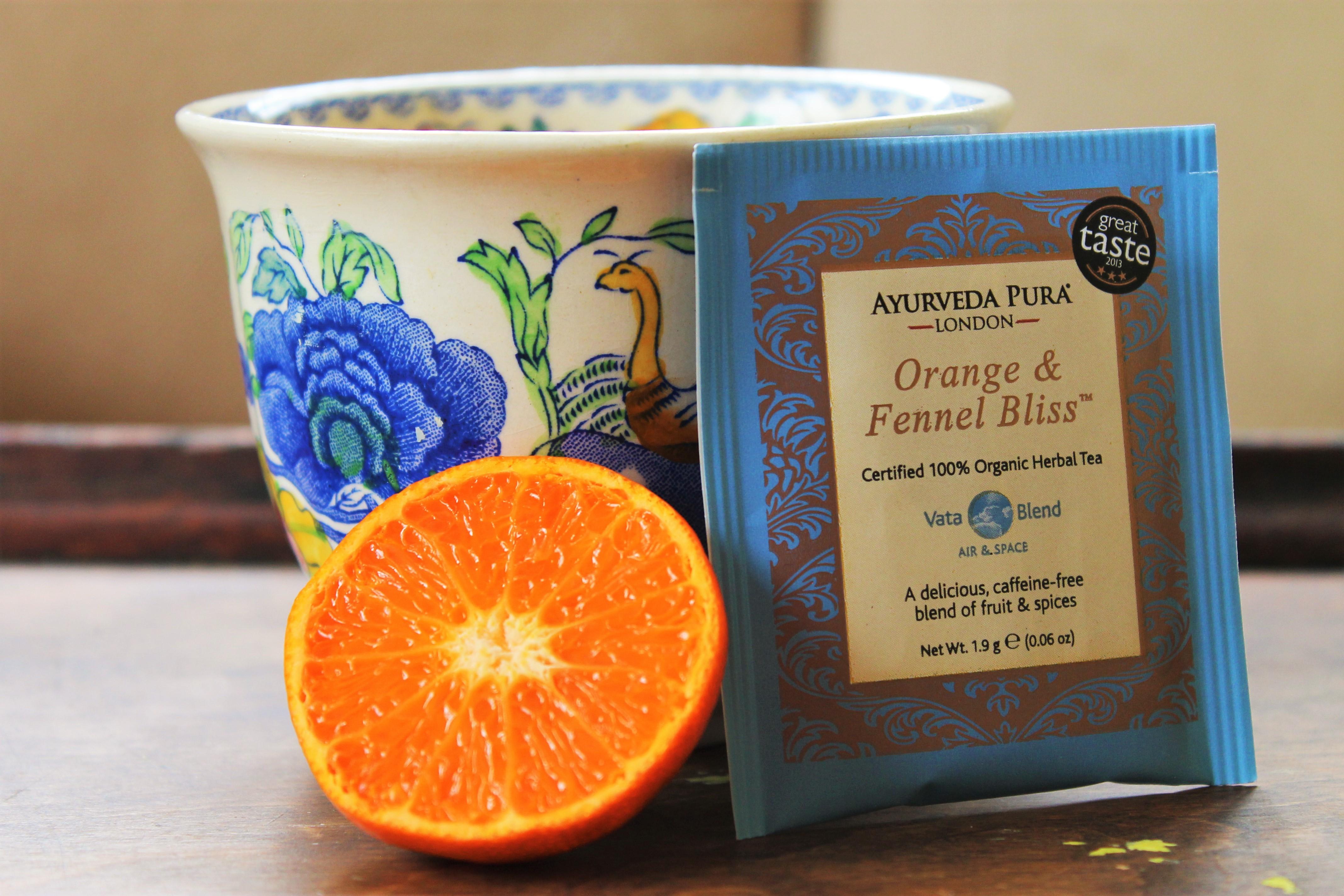 ayurveda pura orange fennel tea