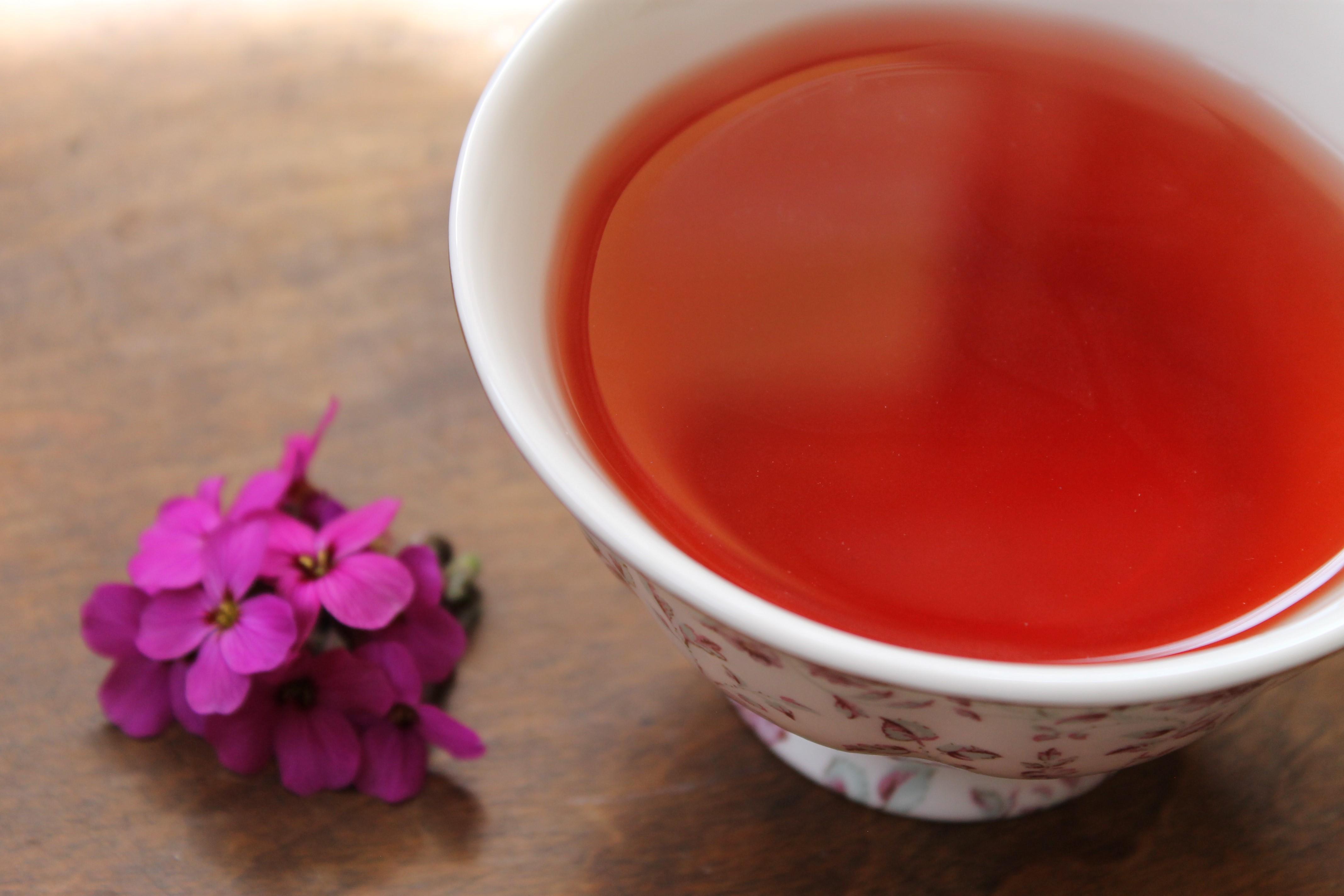 pukka pink tea flower