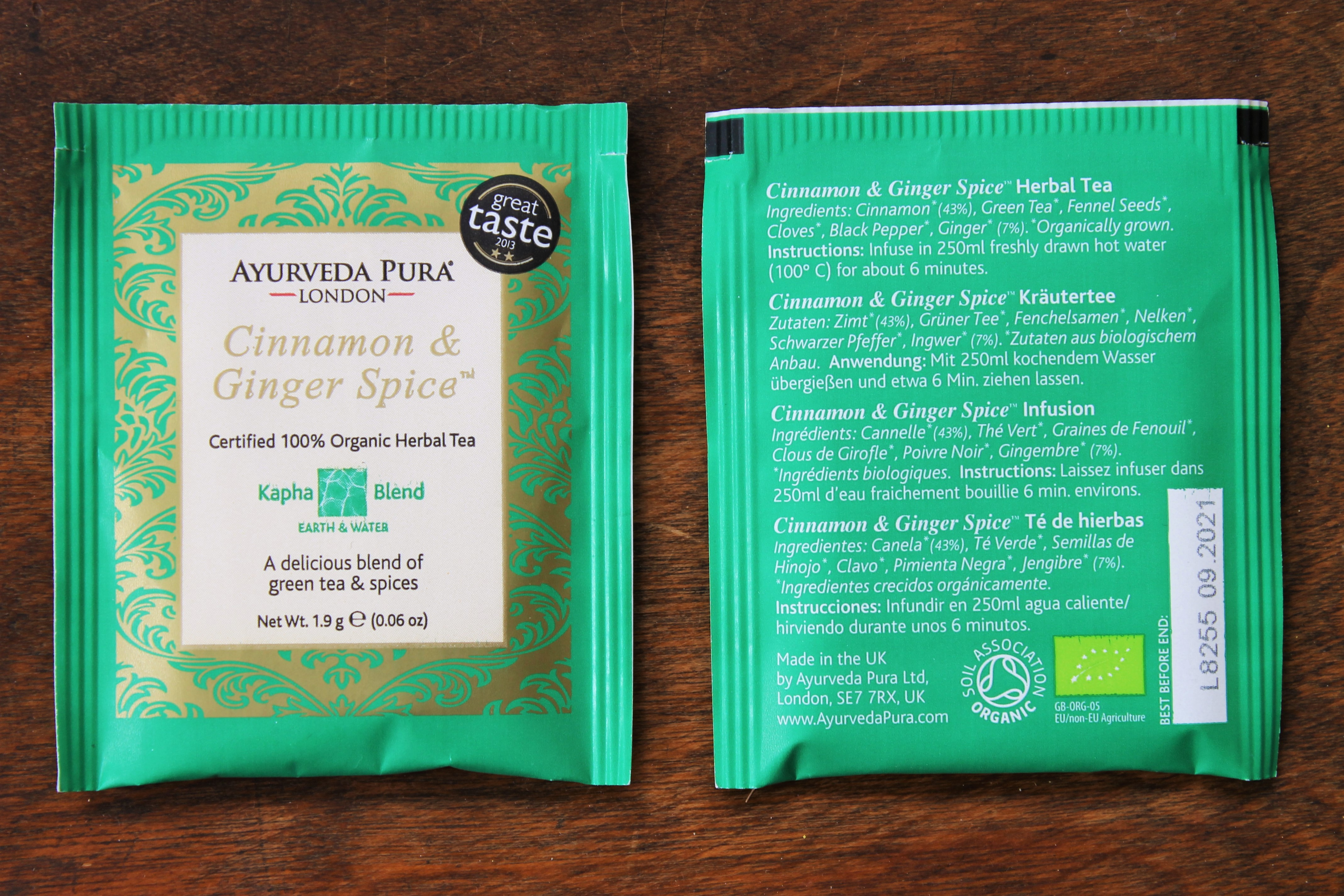 cinnamon ginger spice ayurvedic tea