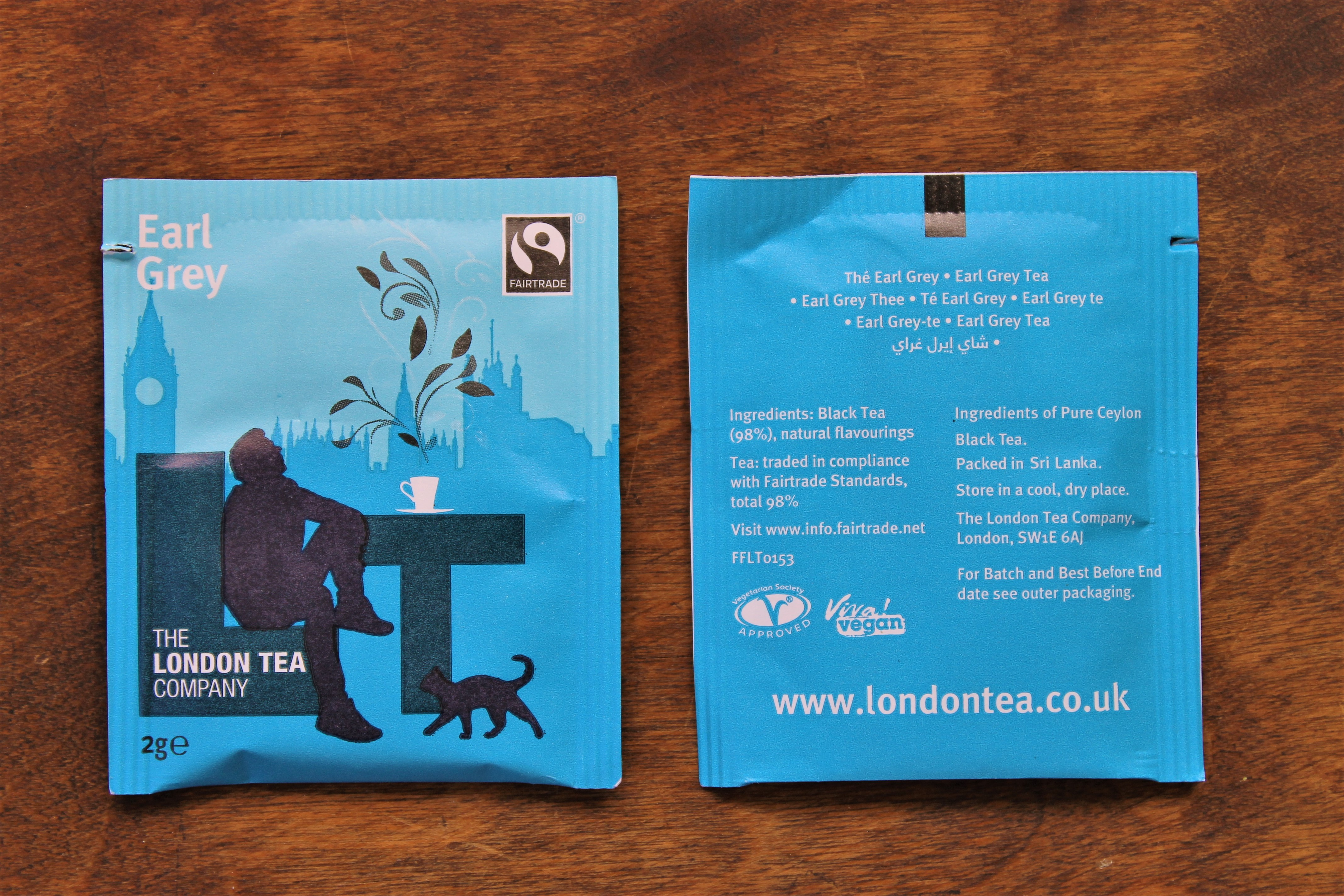 london tea company earl grey teabags