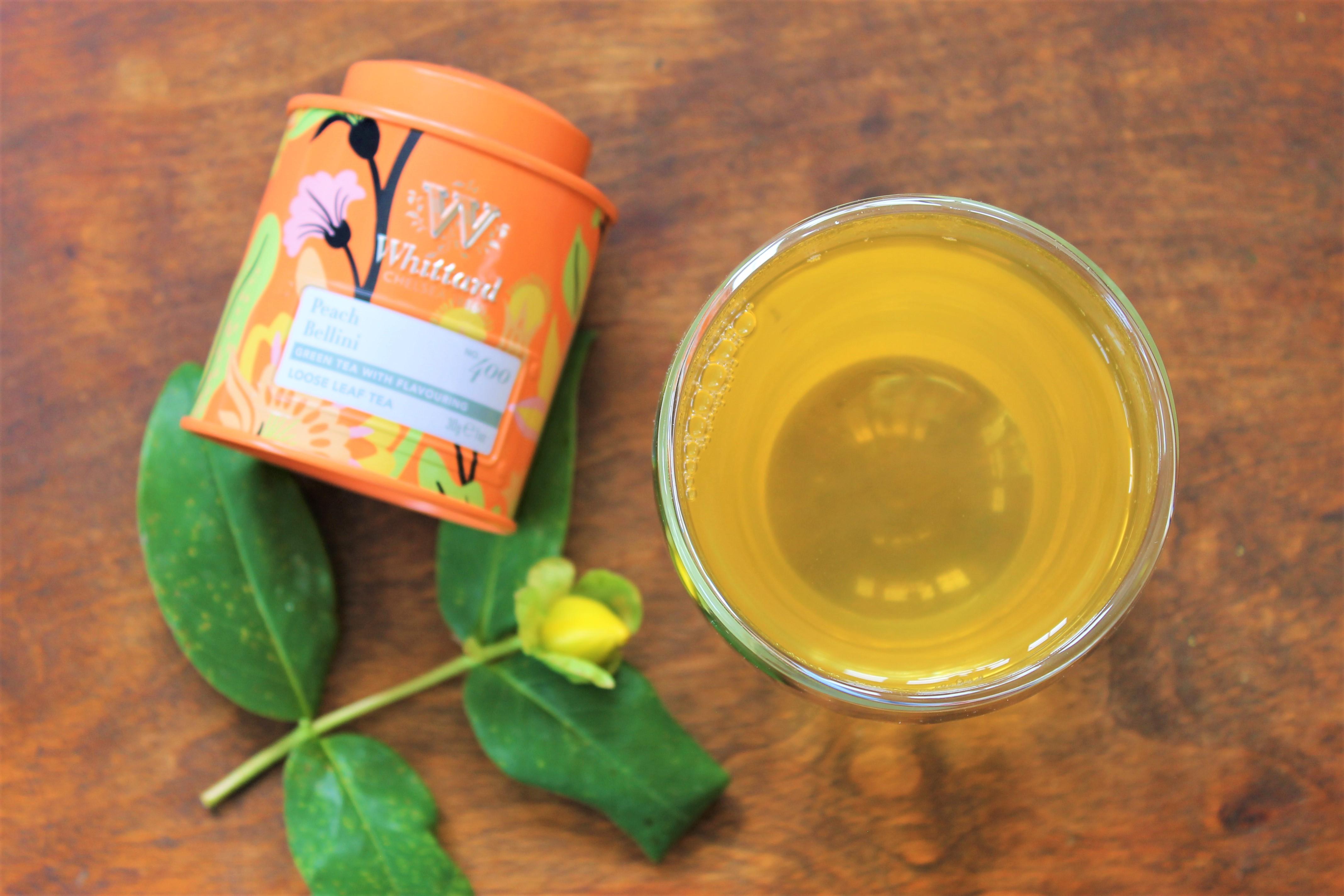 whittard peach bellini green tea review