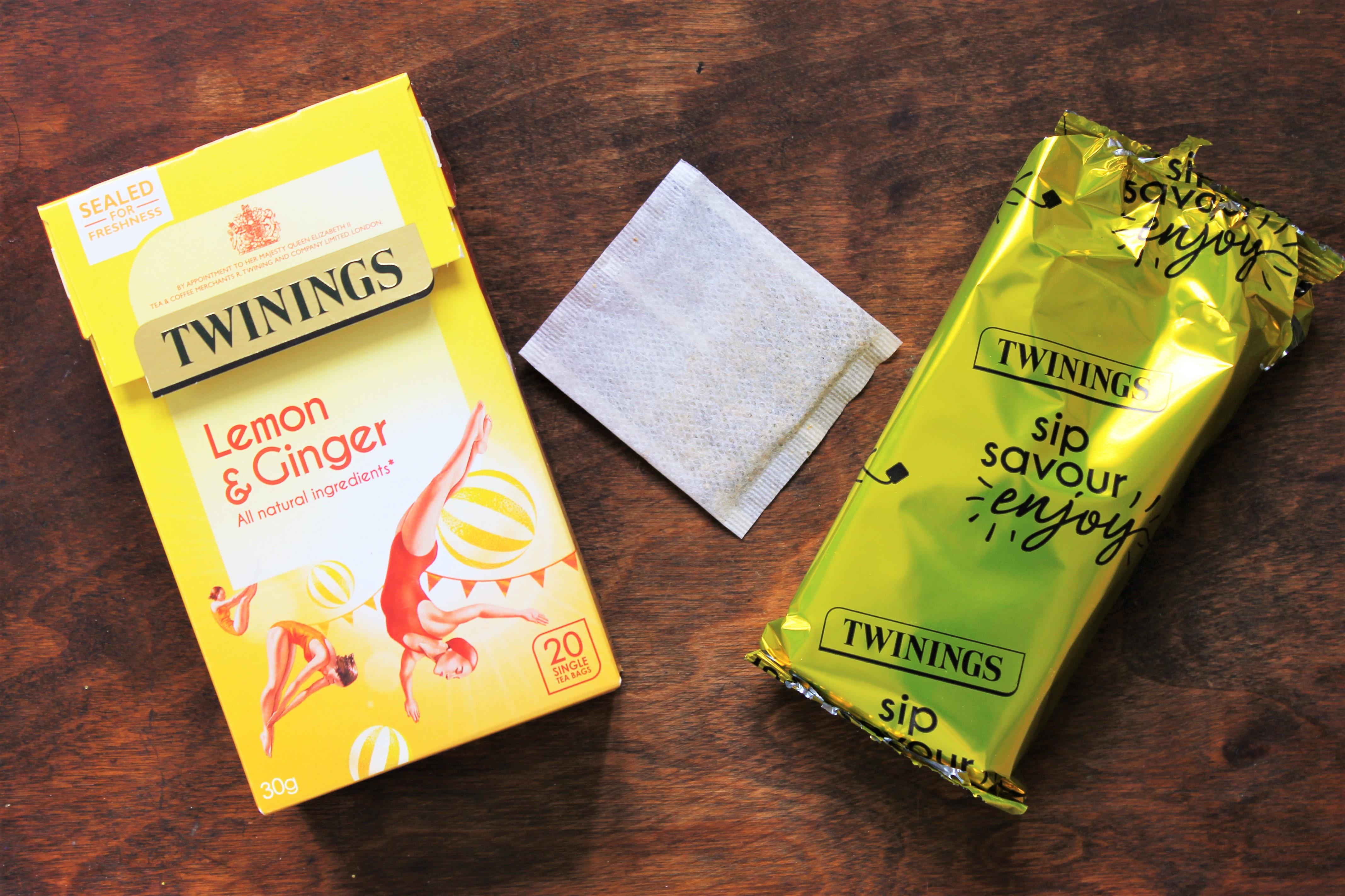 twinings lemon ginger tea bags