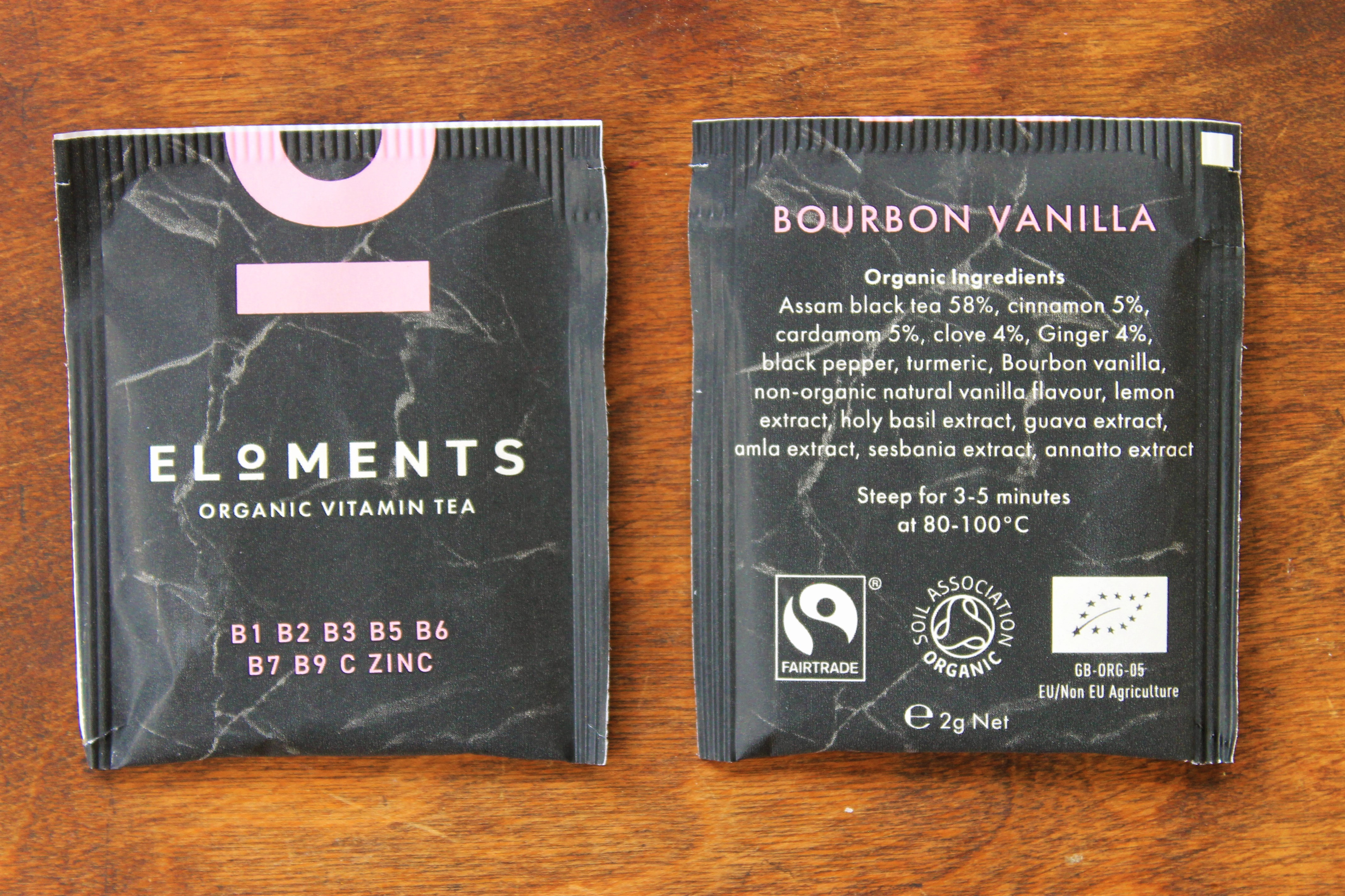 eloments bourbon vanilla tea bags