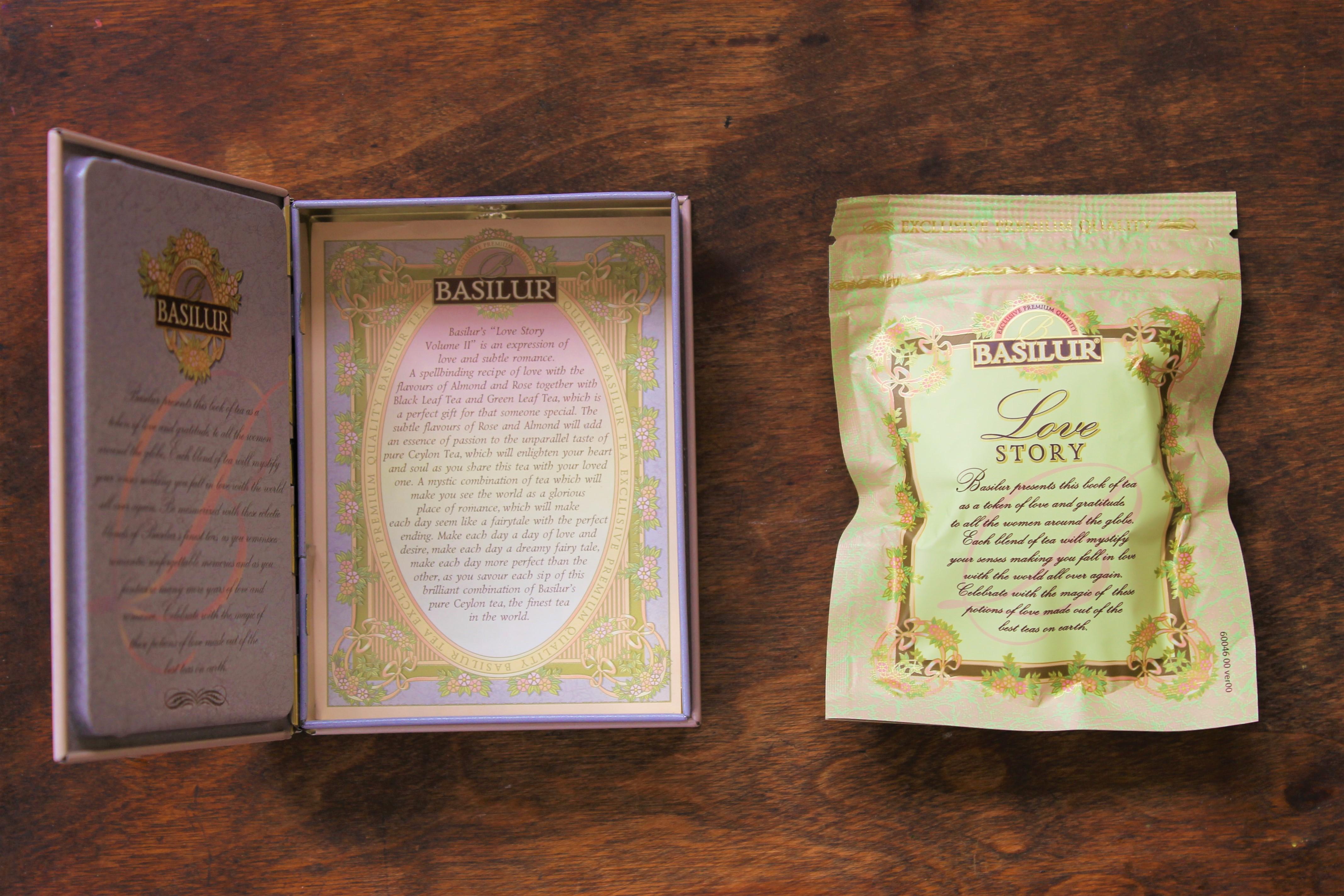 basilur love story tea book