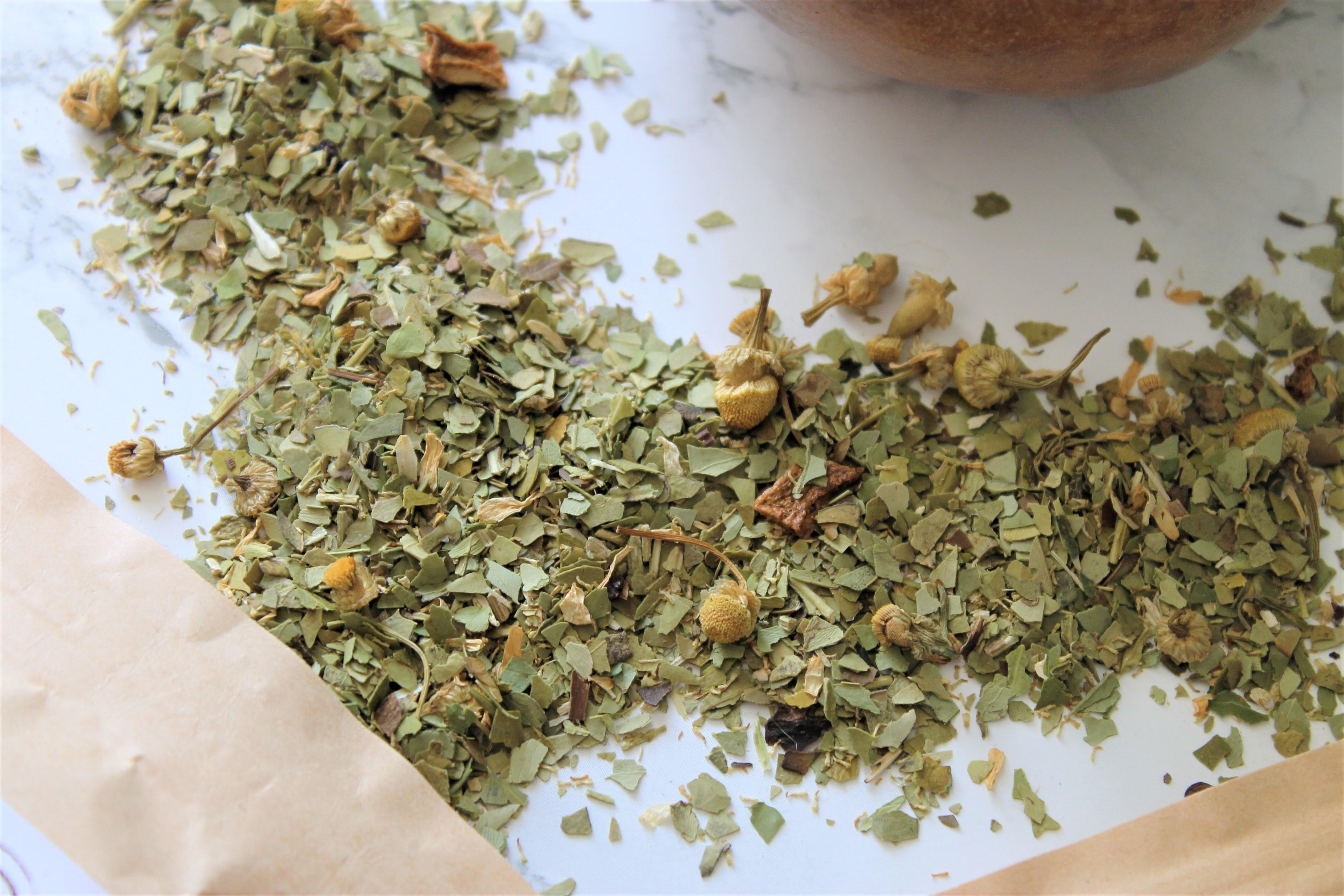 organic yerba mate chamomile blend teapro