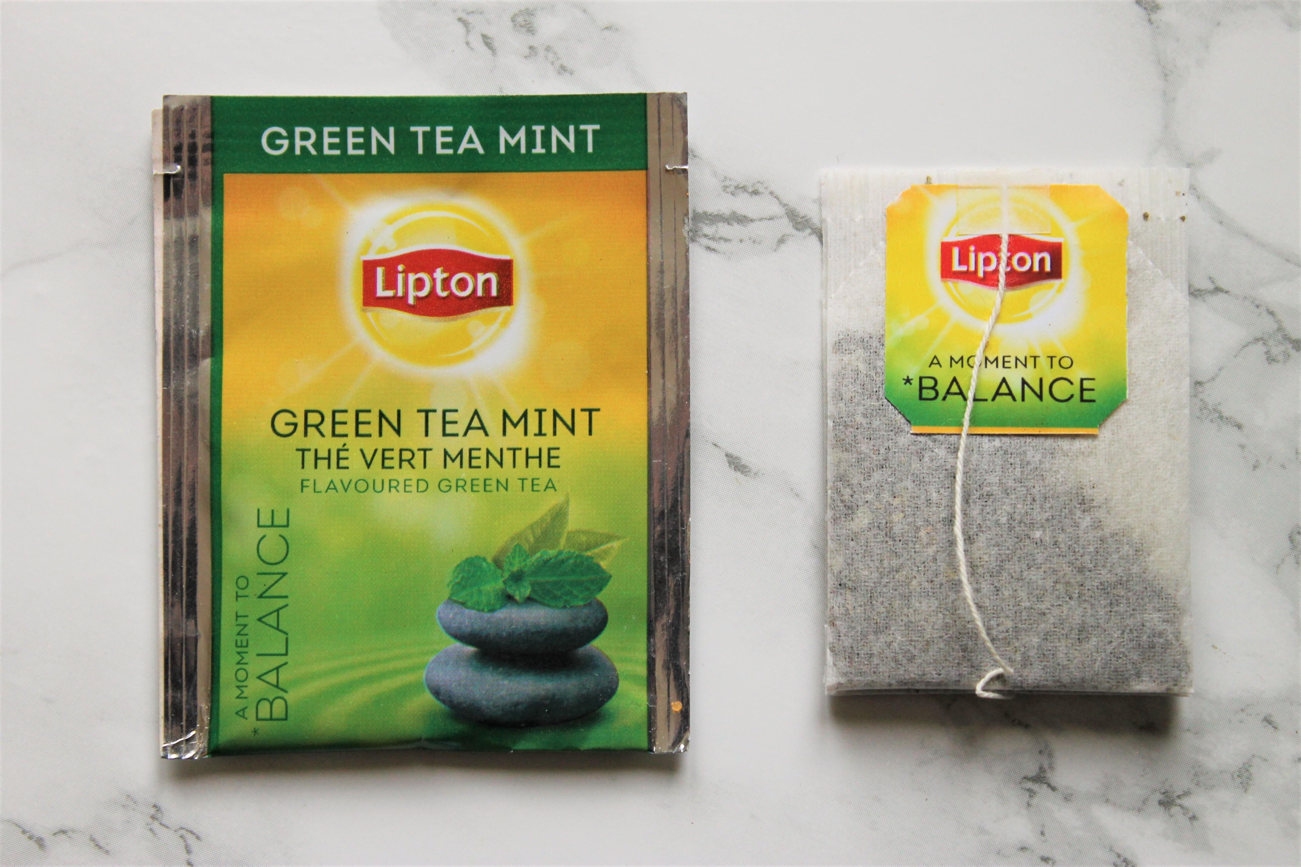 lipton green tea mint teabag