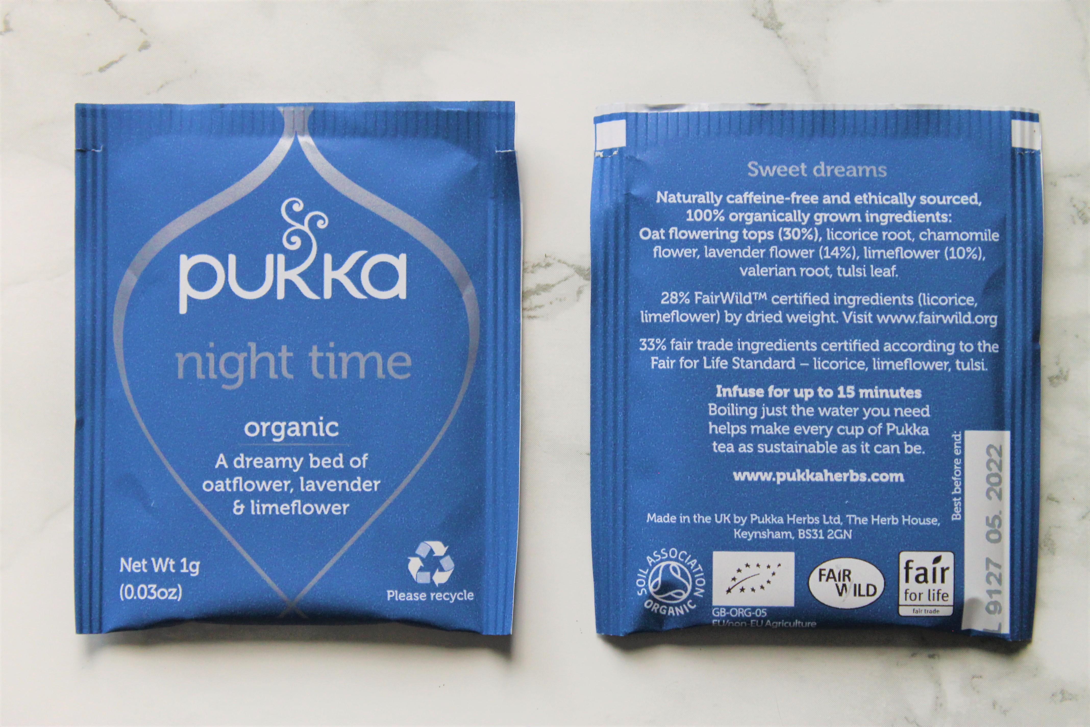 pukka night time tea bags