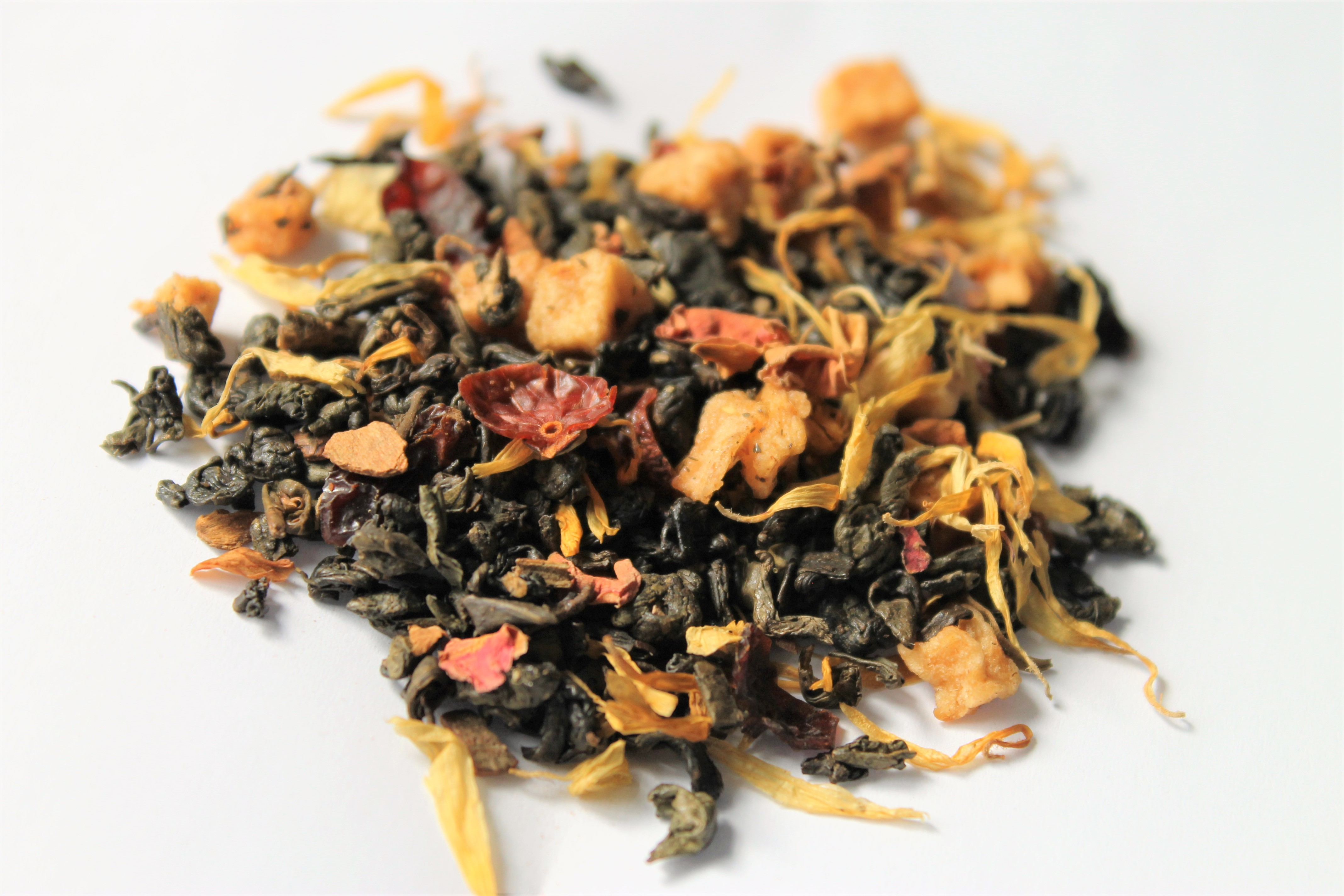caramel apple green tea loose leaf
