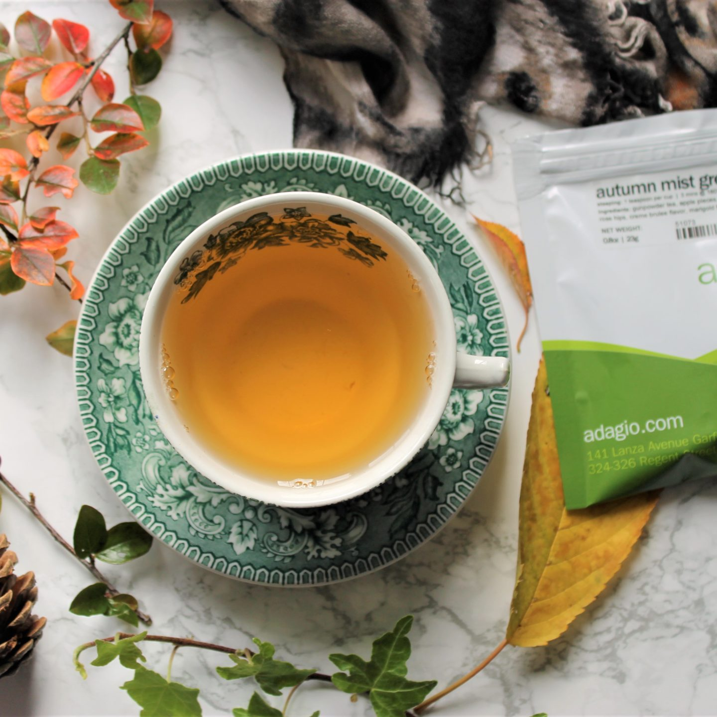 Adagio Autumn Mist Green Tea Review