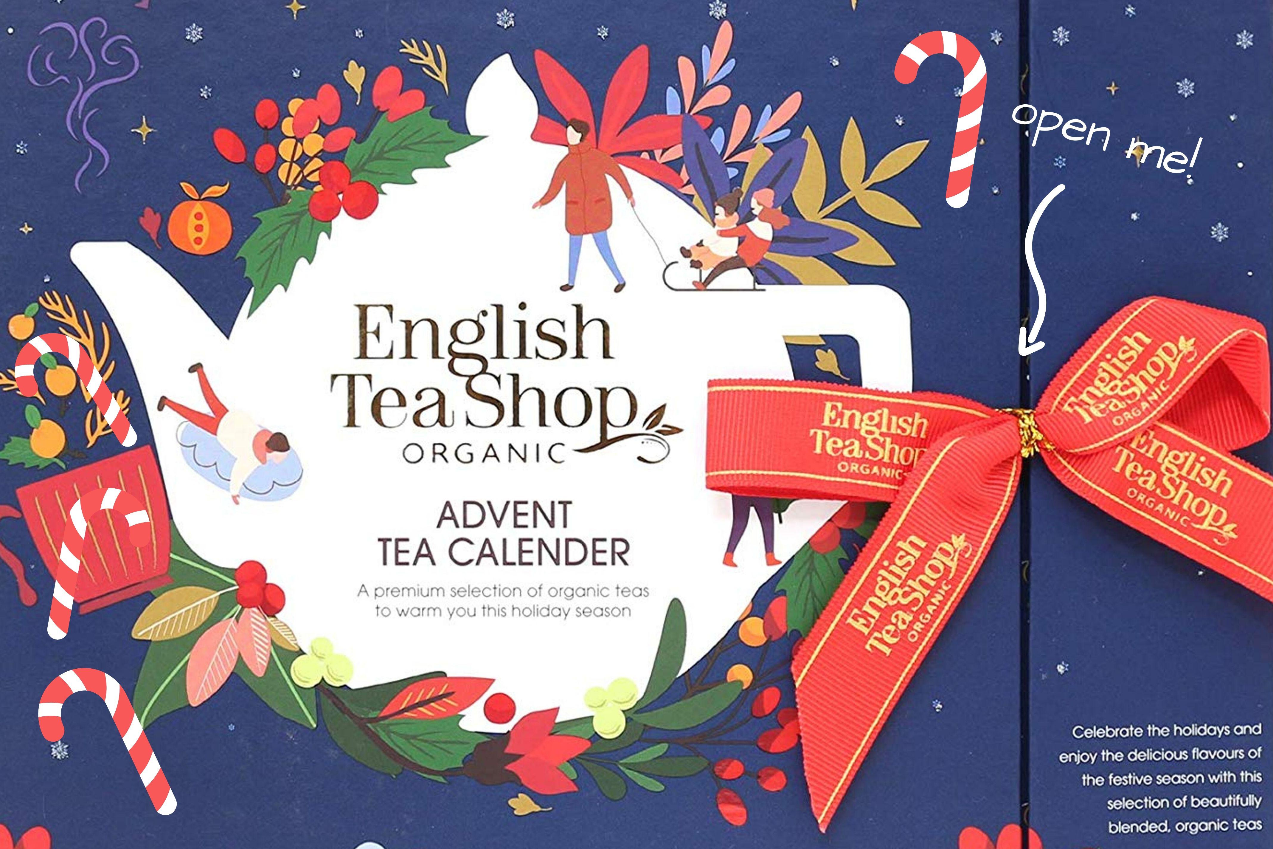 english tea shop book style advent calendar