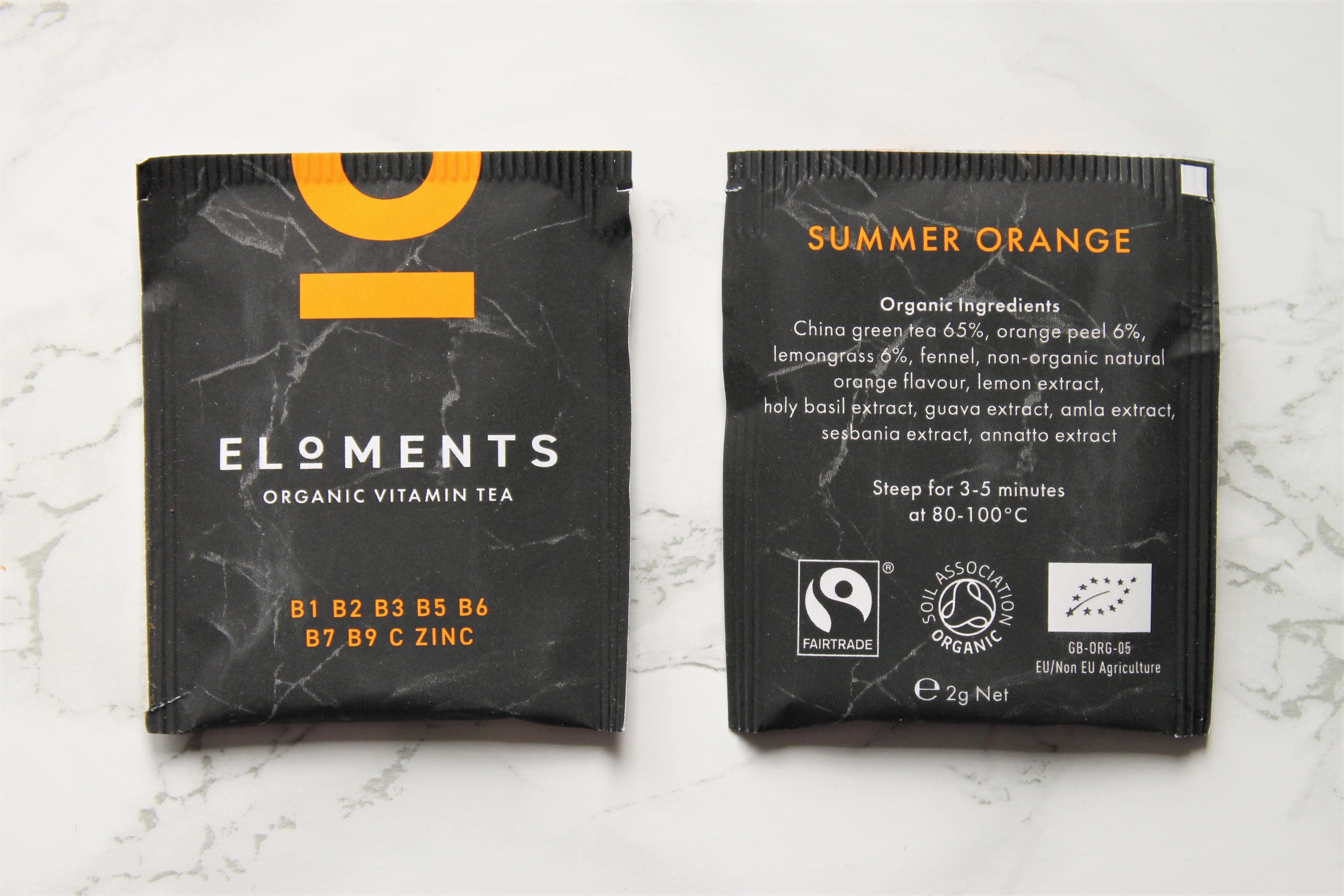 eloments vitamin tea summer orange