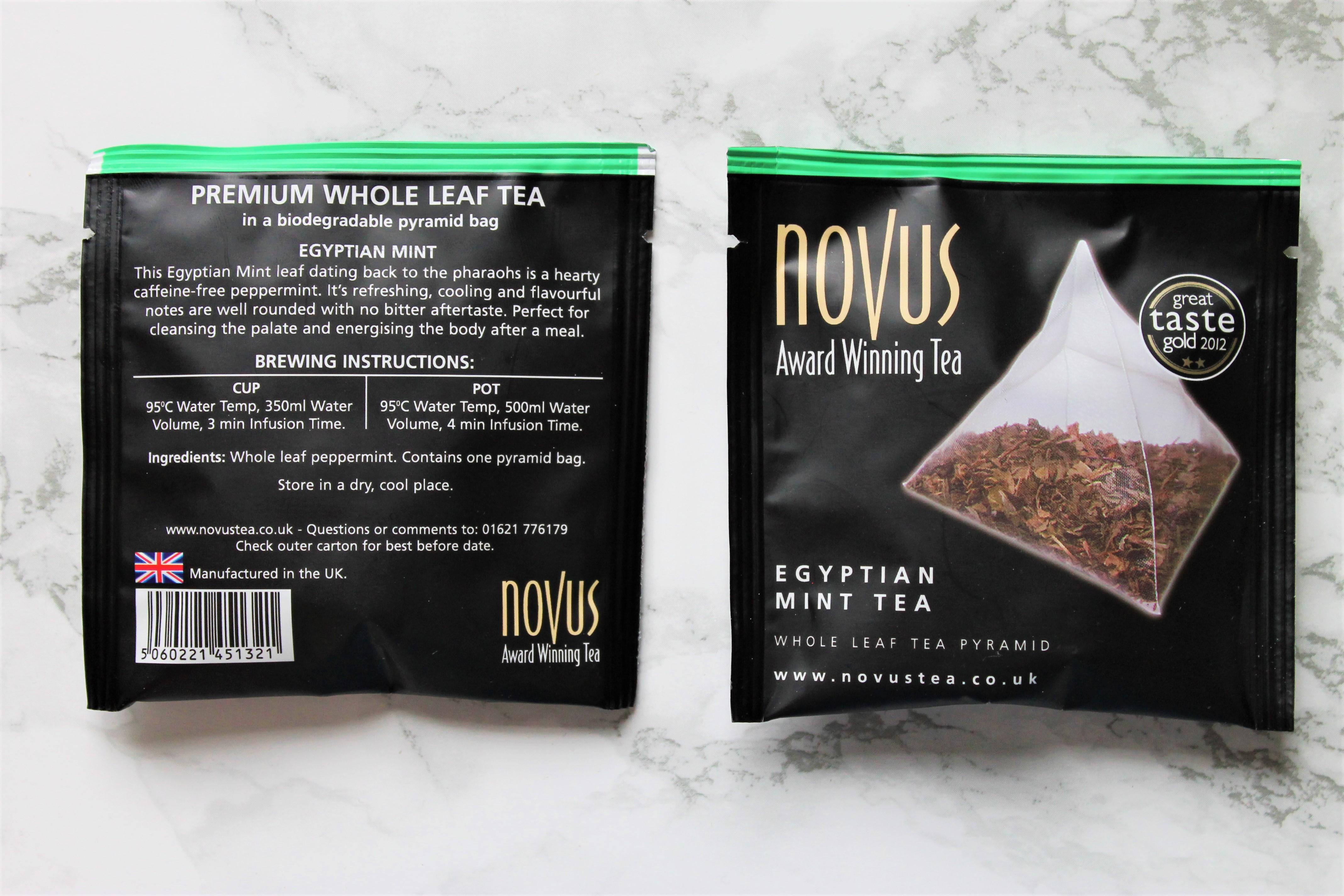 novus peppermint tea bags