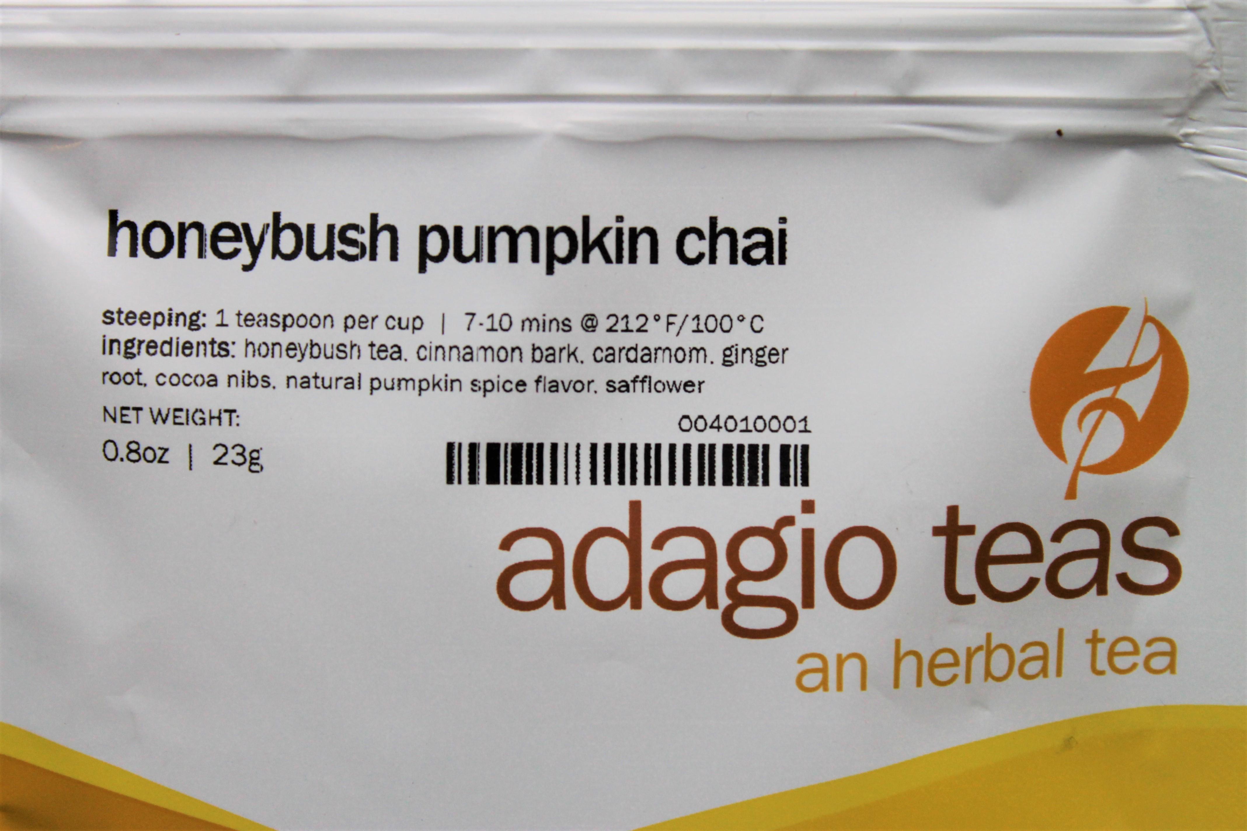 adagio teas honeybush pumpkin chai