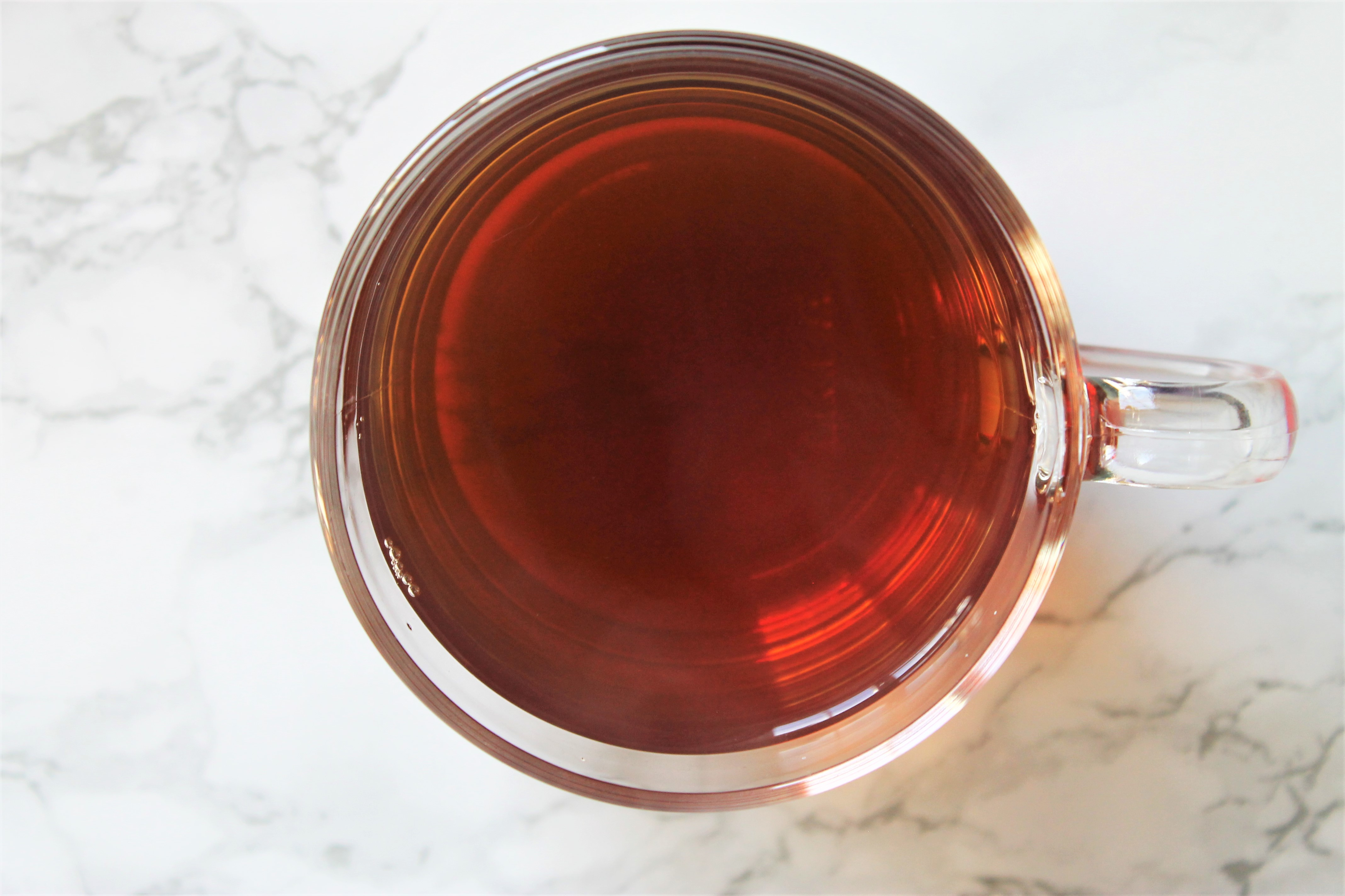 earl grey glass teacup