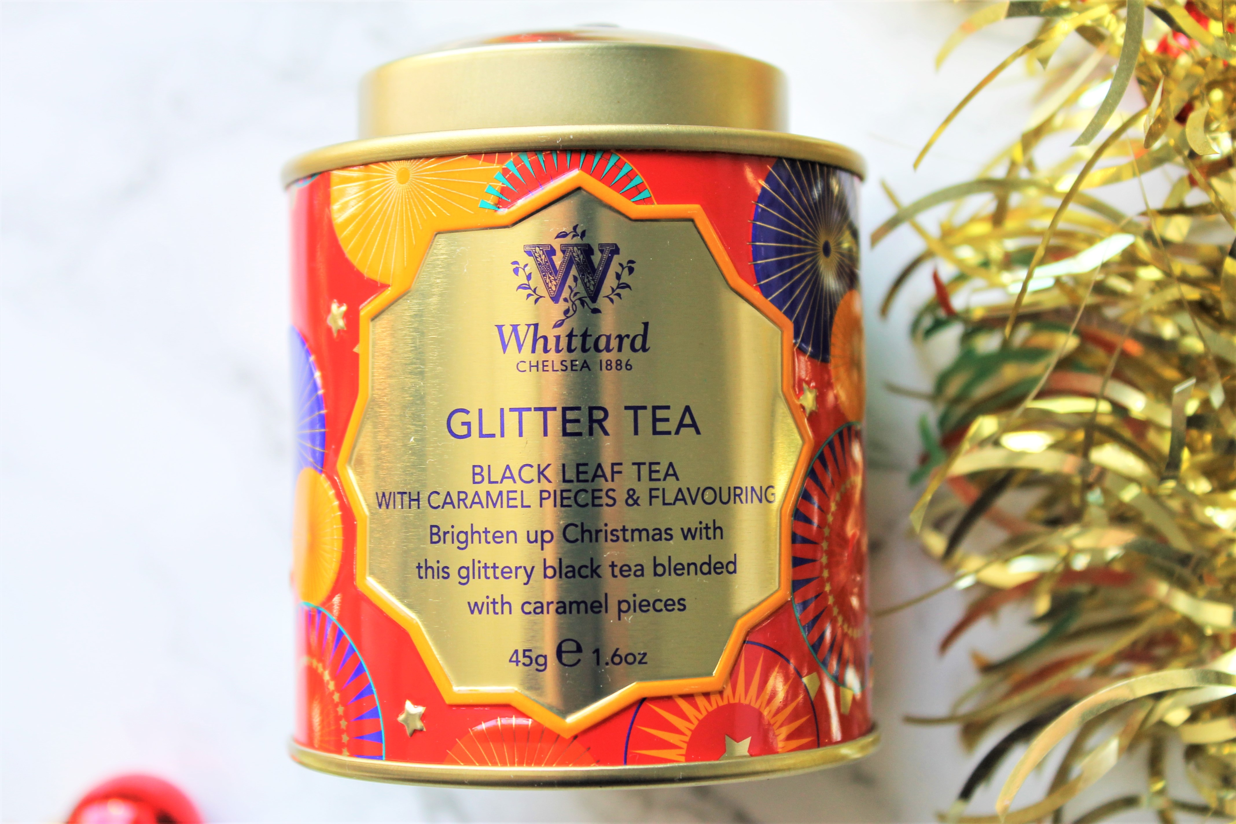 glitter tea whittard mini caddy