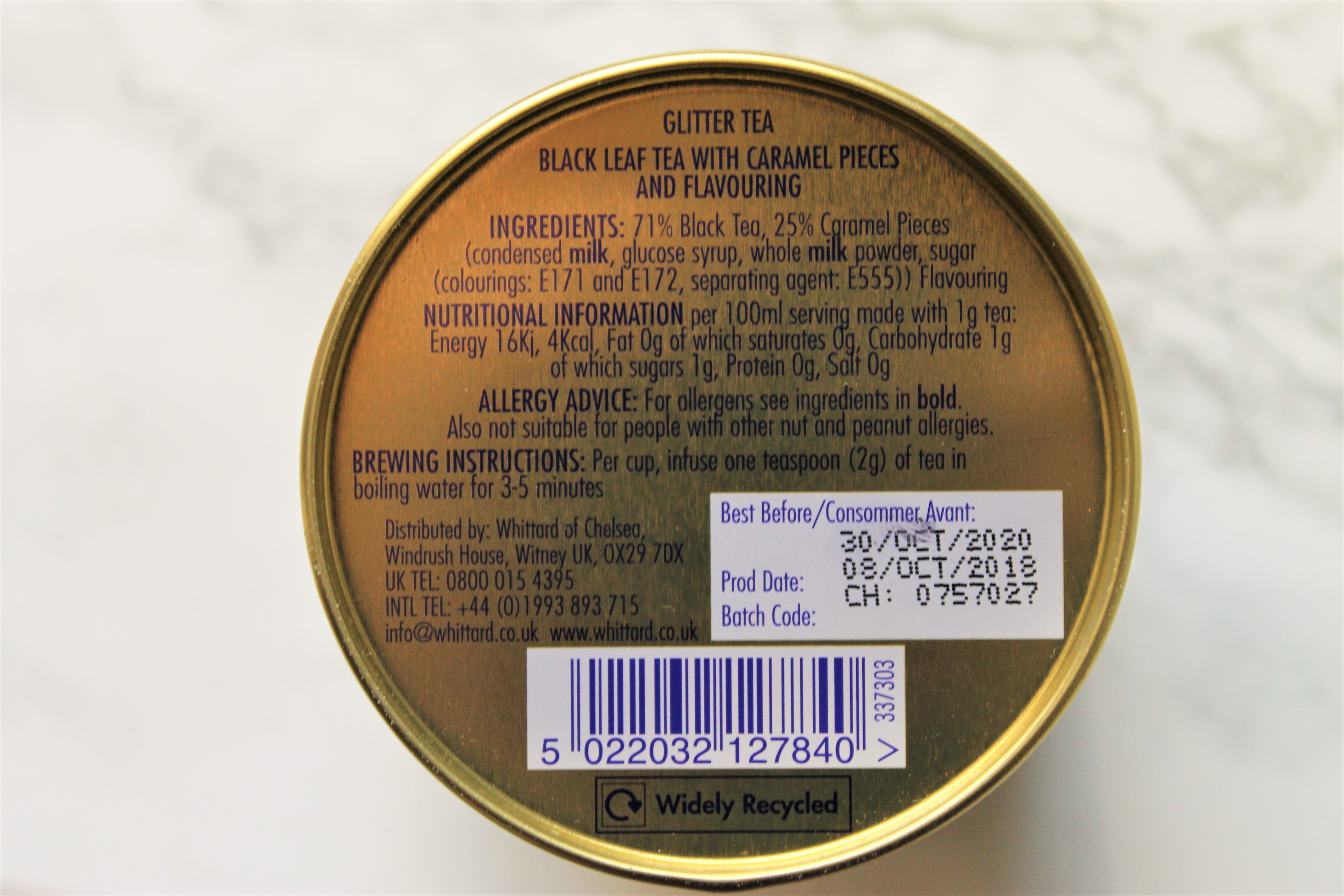 glitter tea ingredients