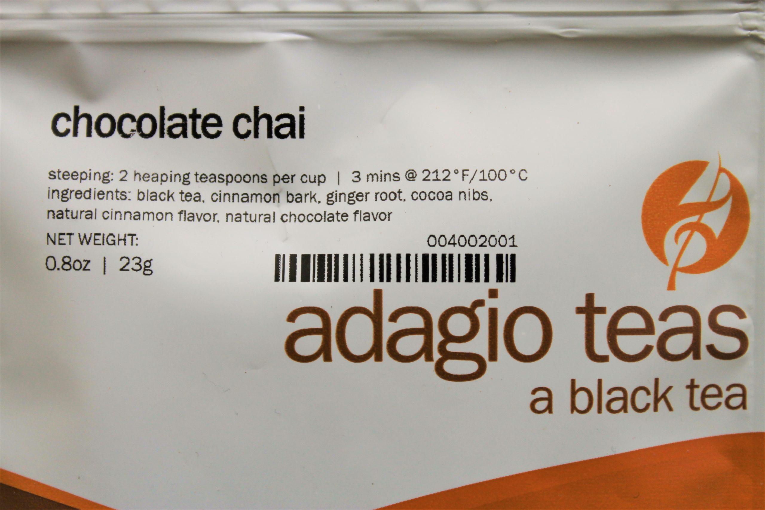 chocolate tea packet