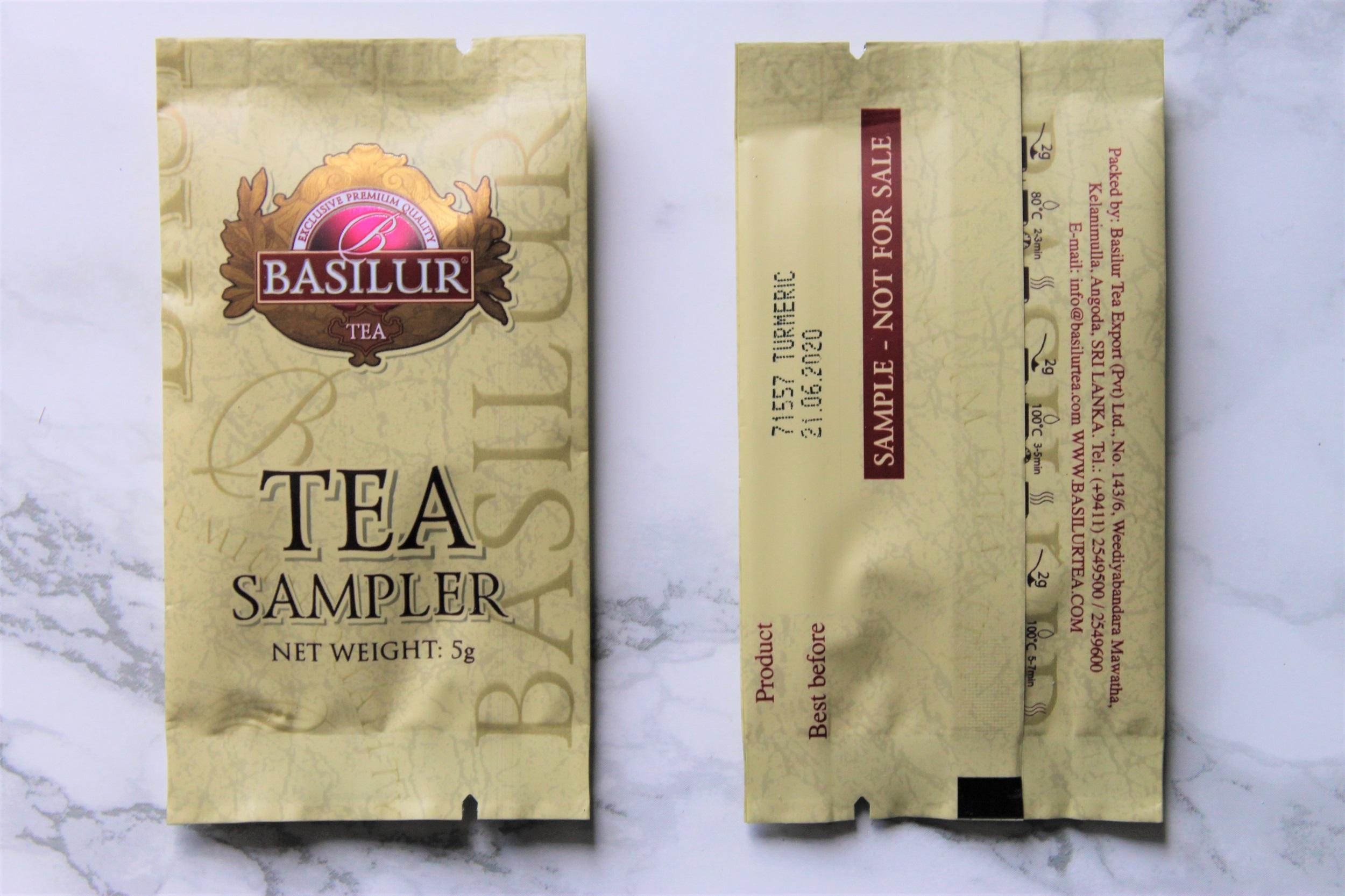 basilur turmeric tea sample