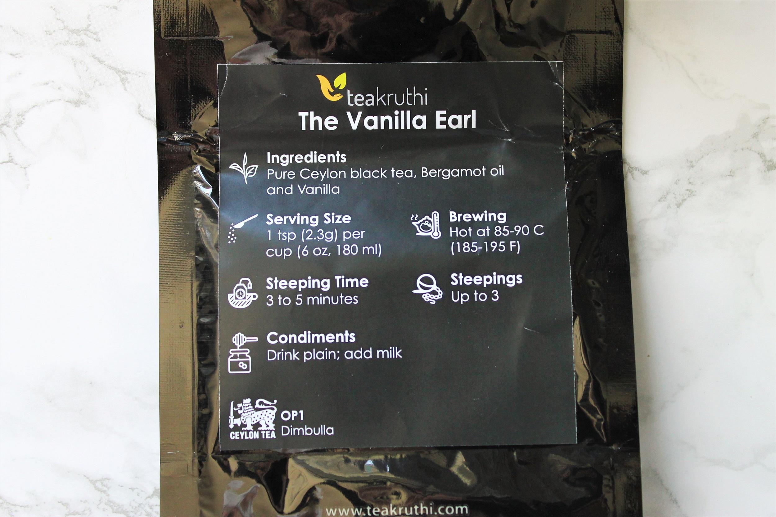 teakruthi vanilla earl loose leaf