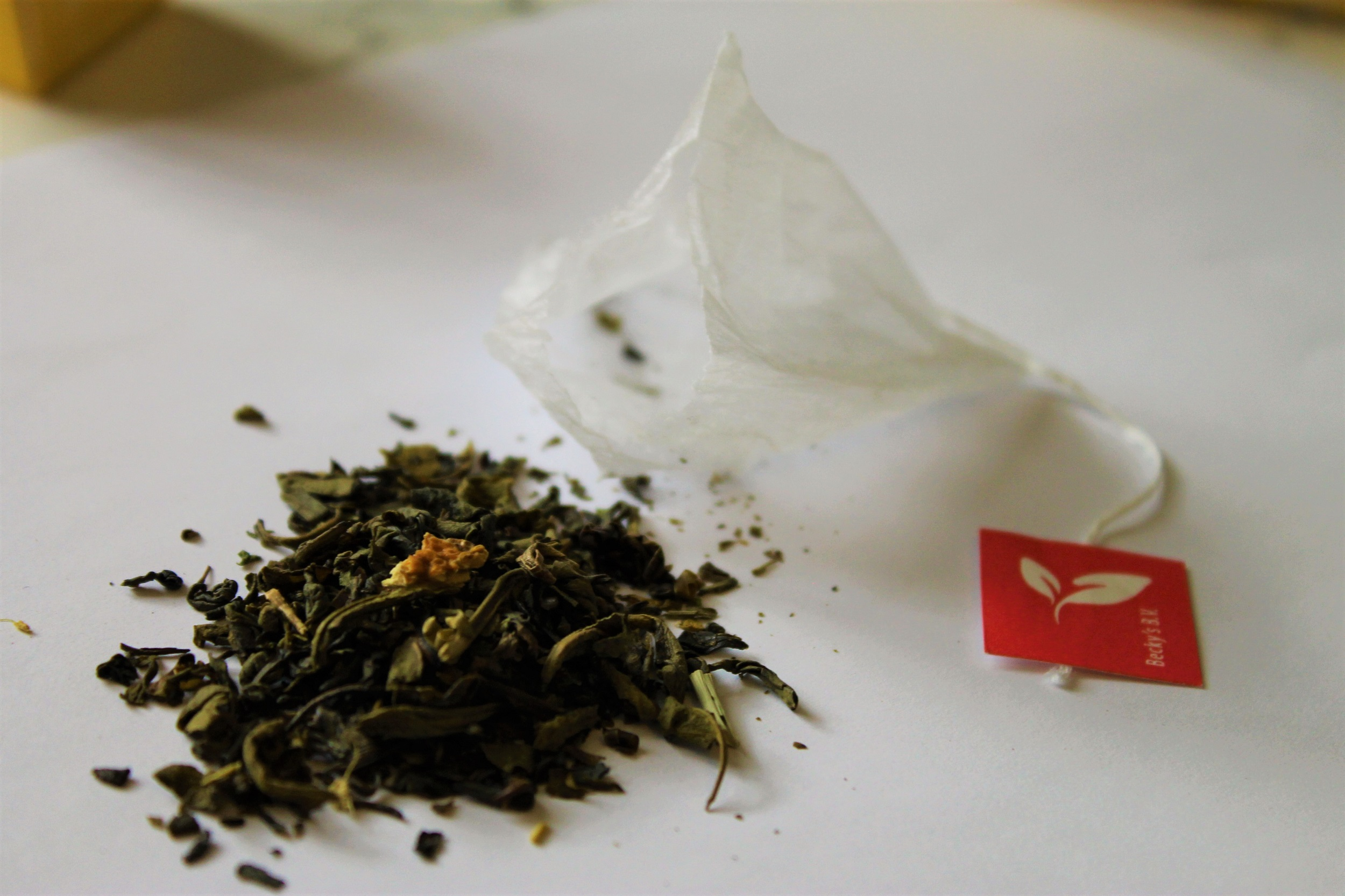 green tea lemon teabag