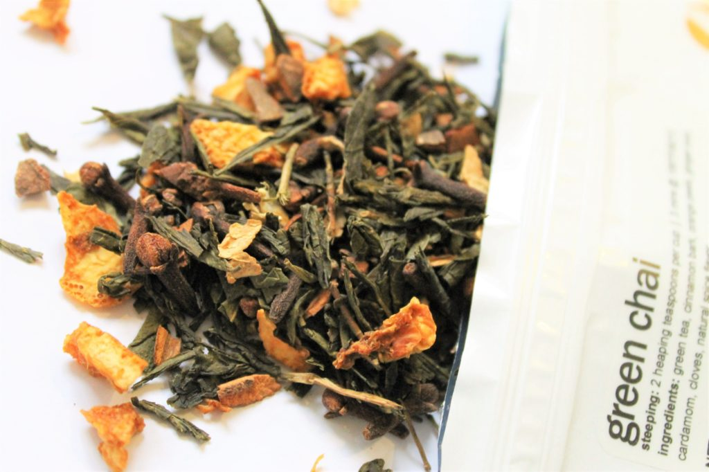 green tea with orange and spices