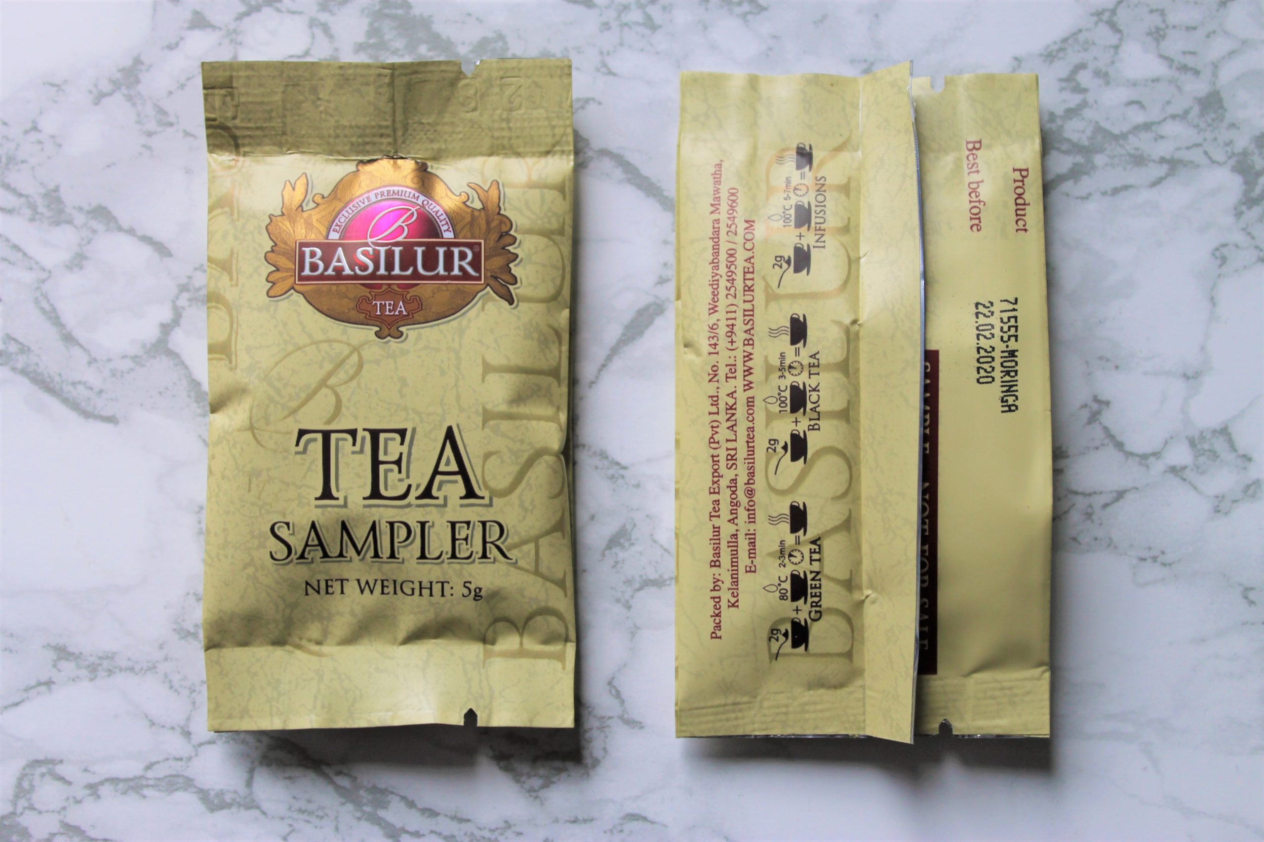 basilur tea sample sachet