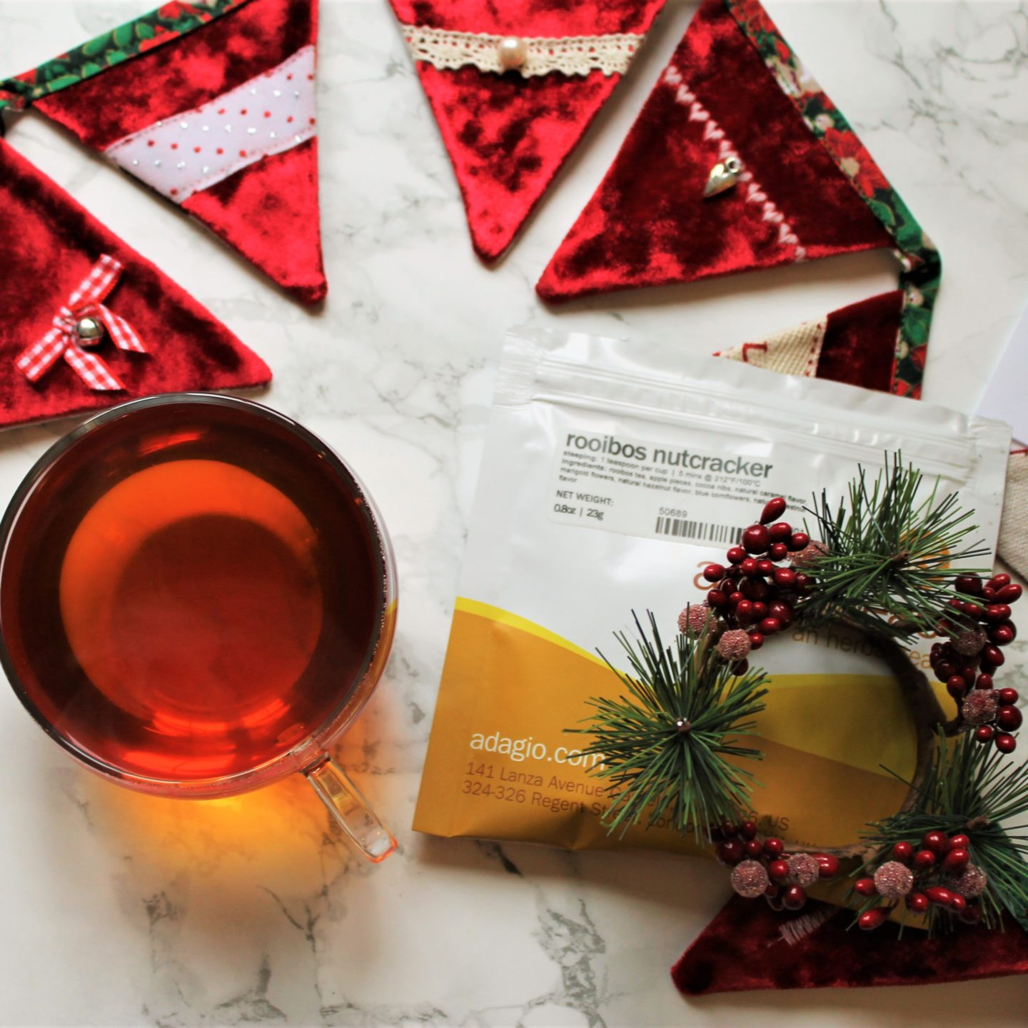 Adagio Rooibos Nutcracker Tea Review