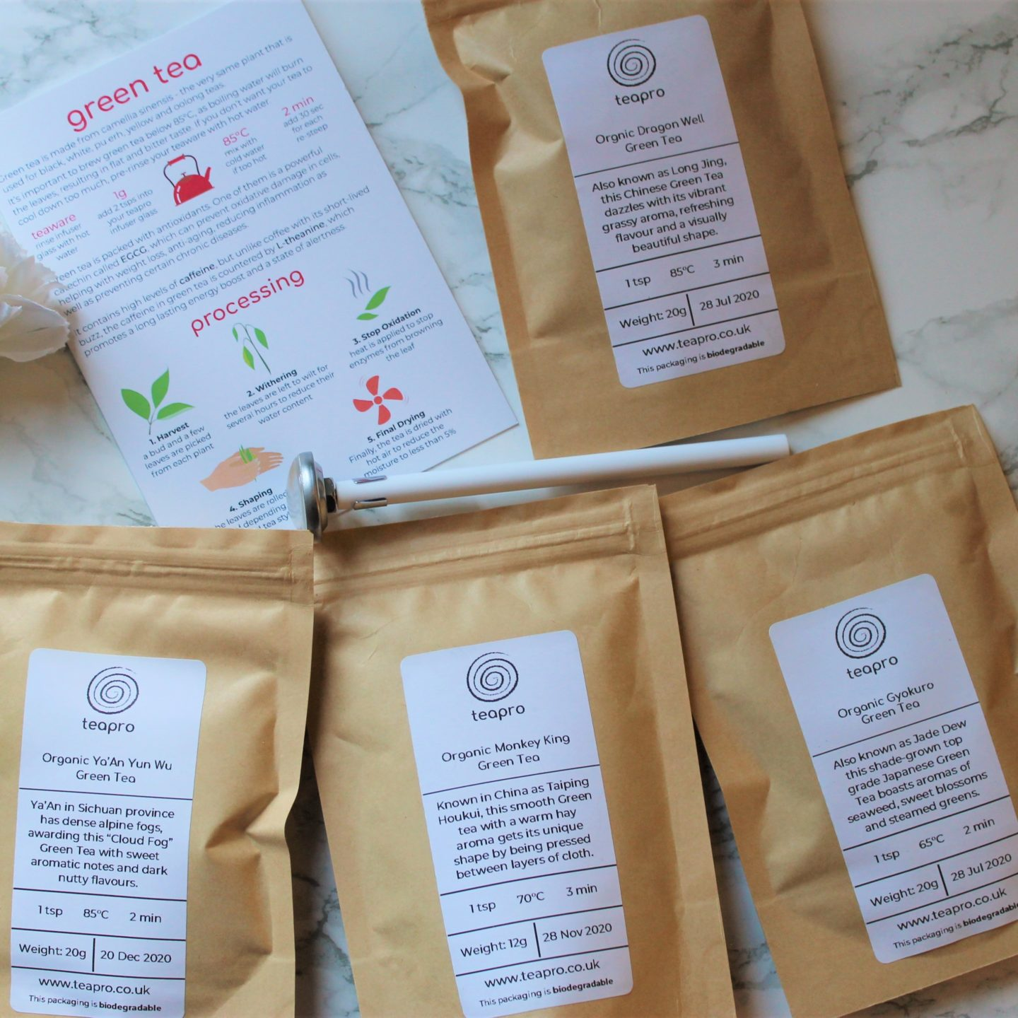 Teapro Subscription Box: 'Shades of Green' November 2019