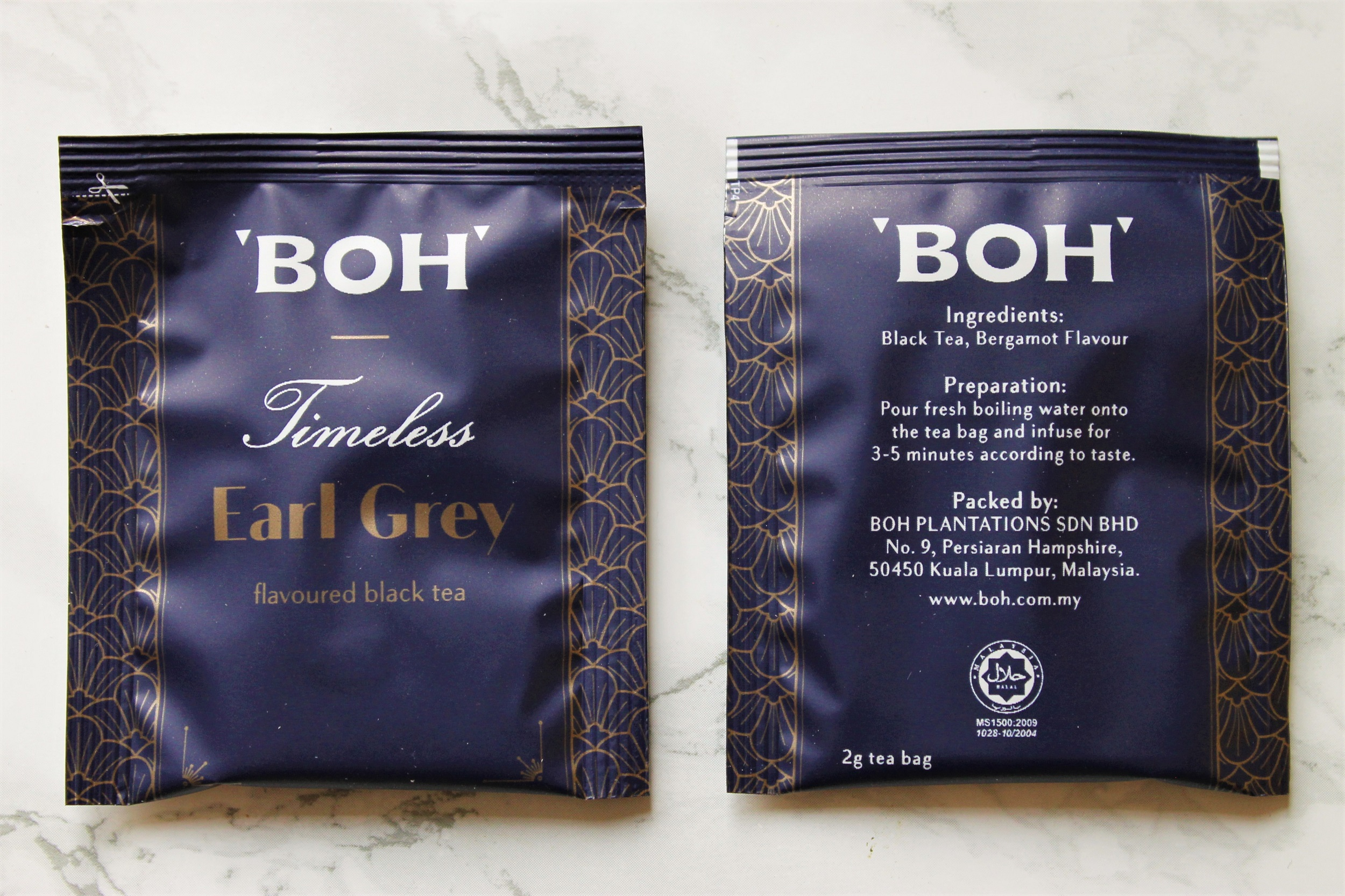 boh earl grey tea bags