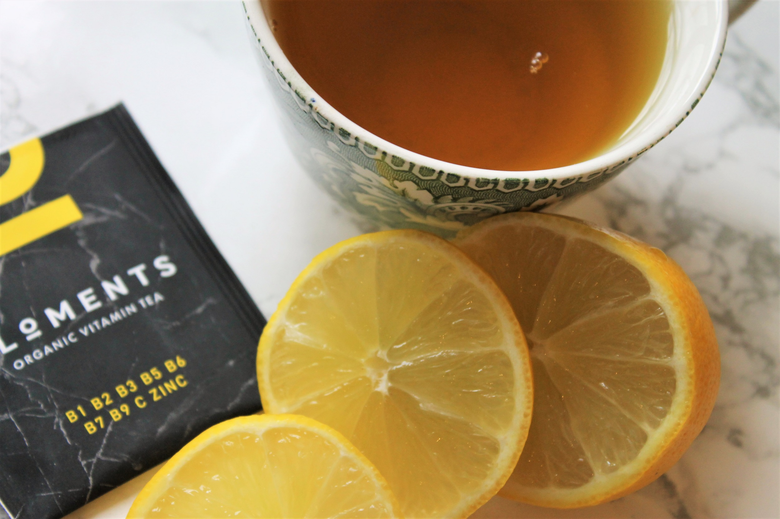 healthy lemon green tea