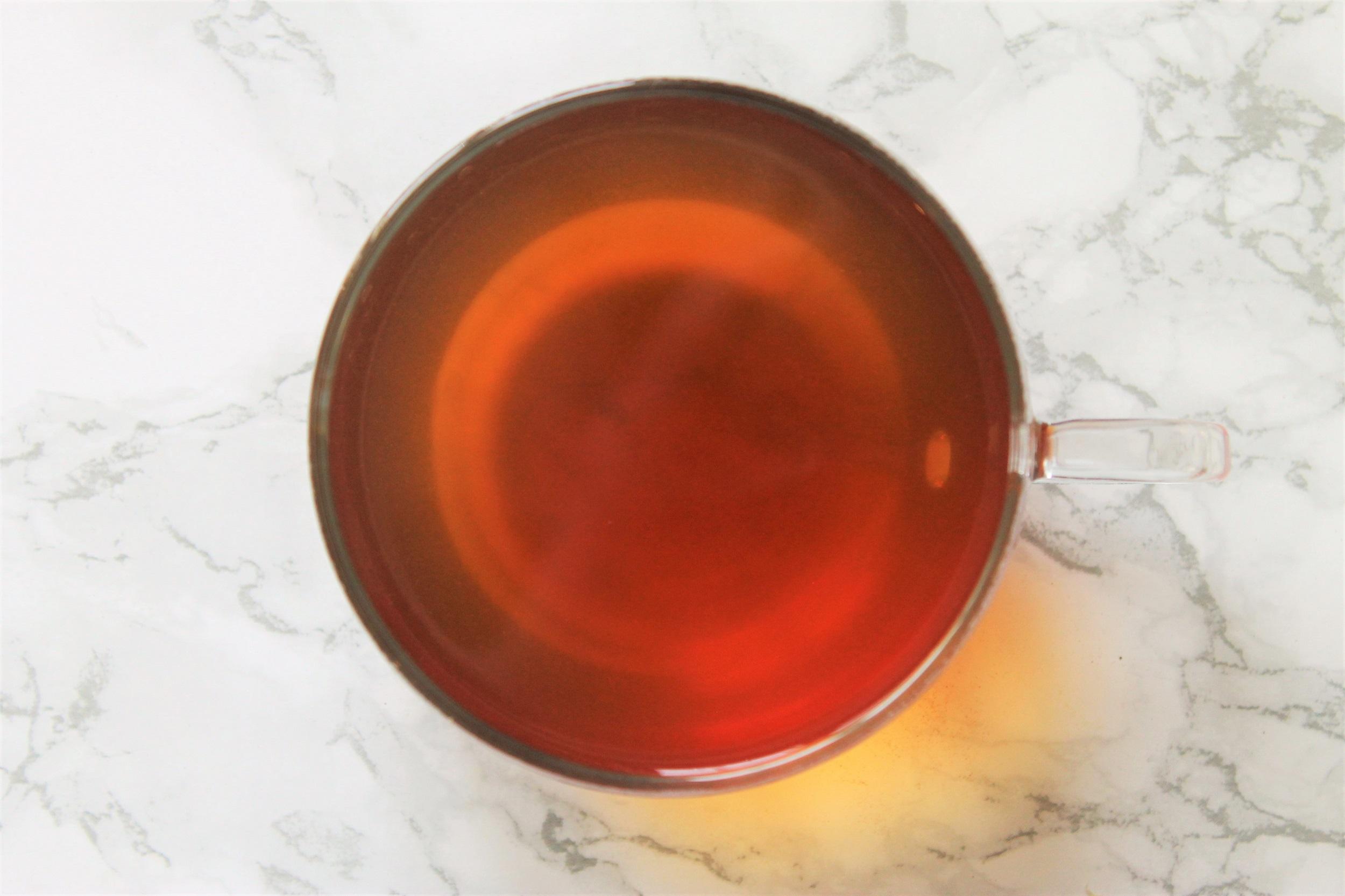black tea with coconut and lemongrass
