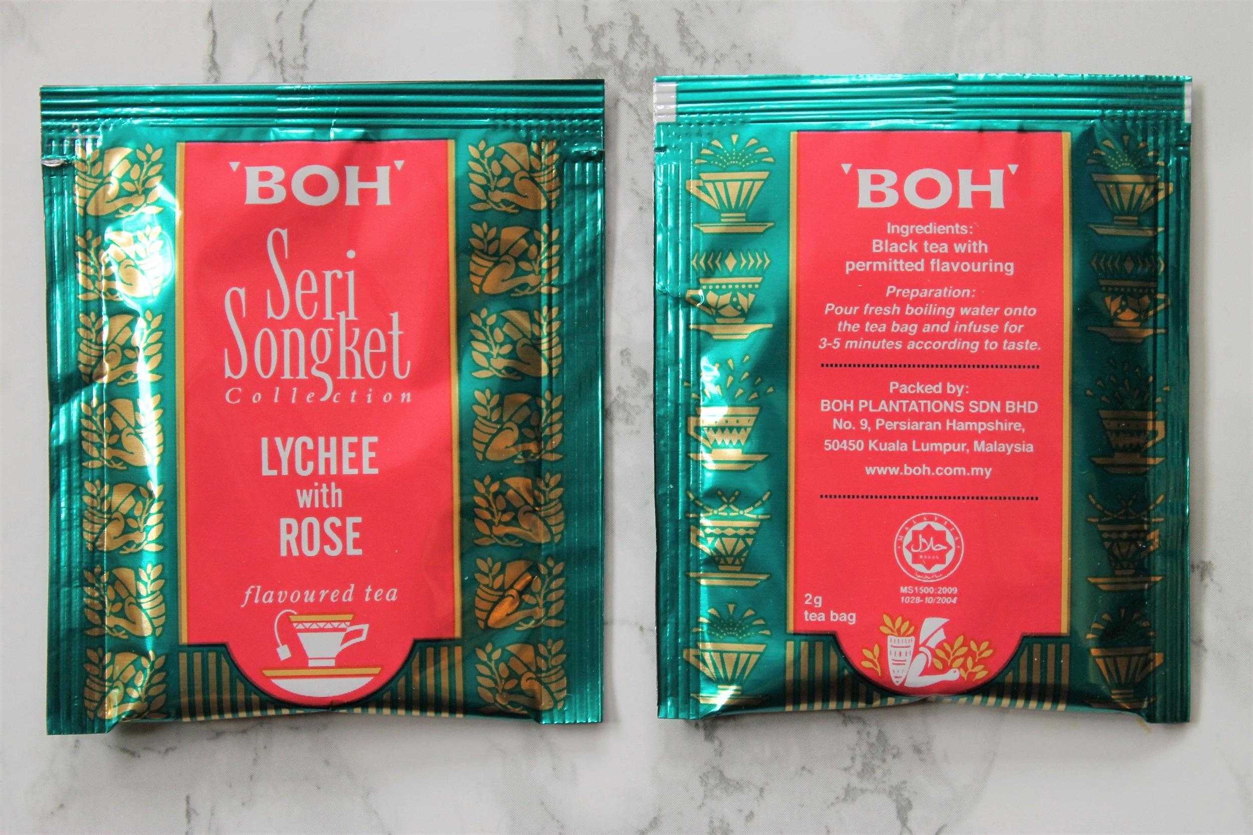 boh seri songket tea bags