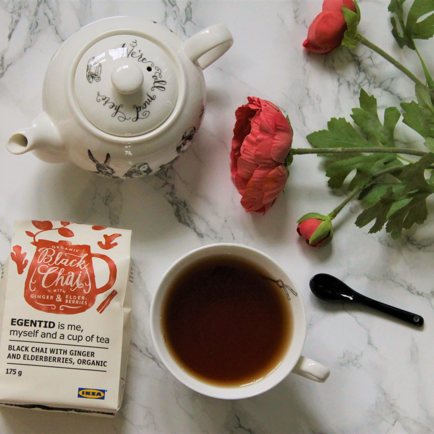 IKEA Black Chai with Ginger and Elderberries Tea Review