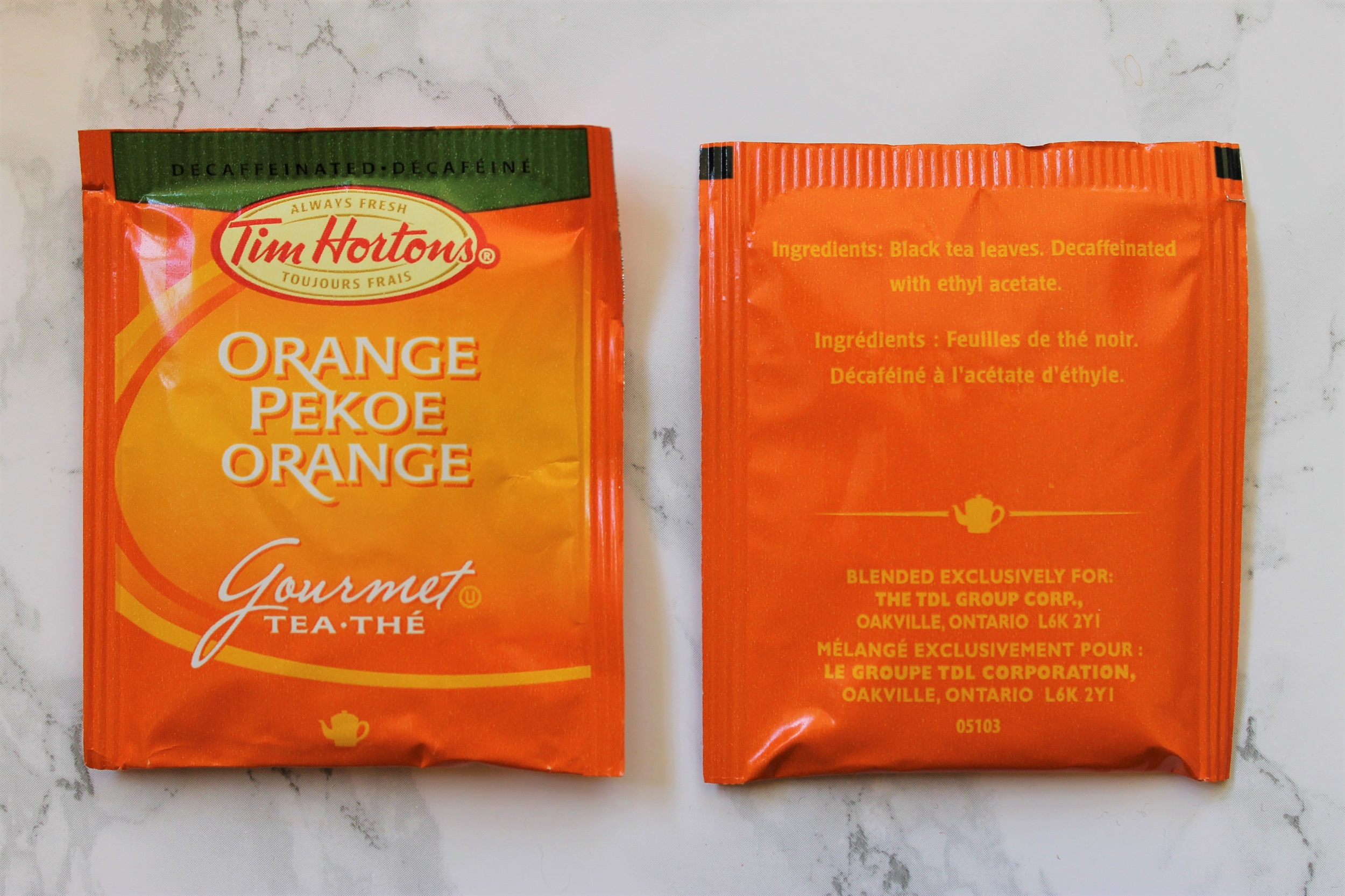 tim hortons orange pekoe teabags