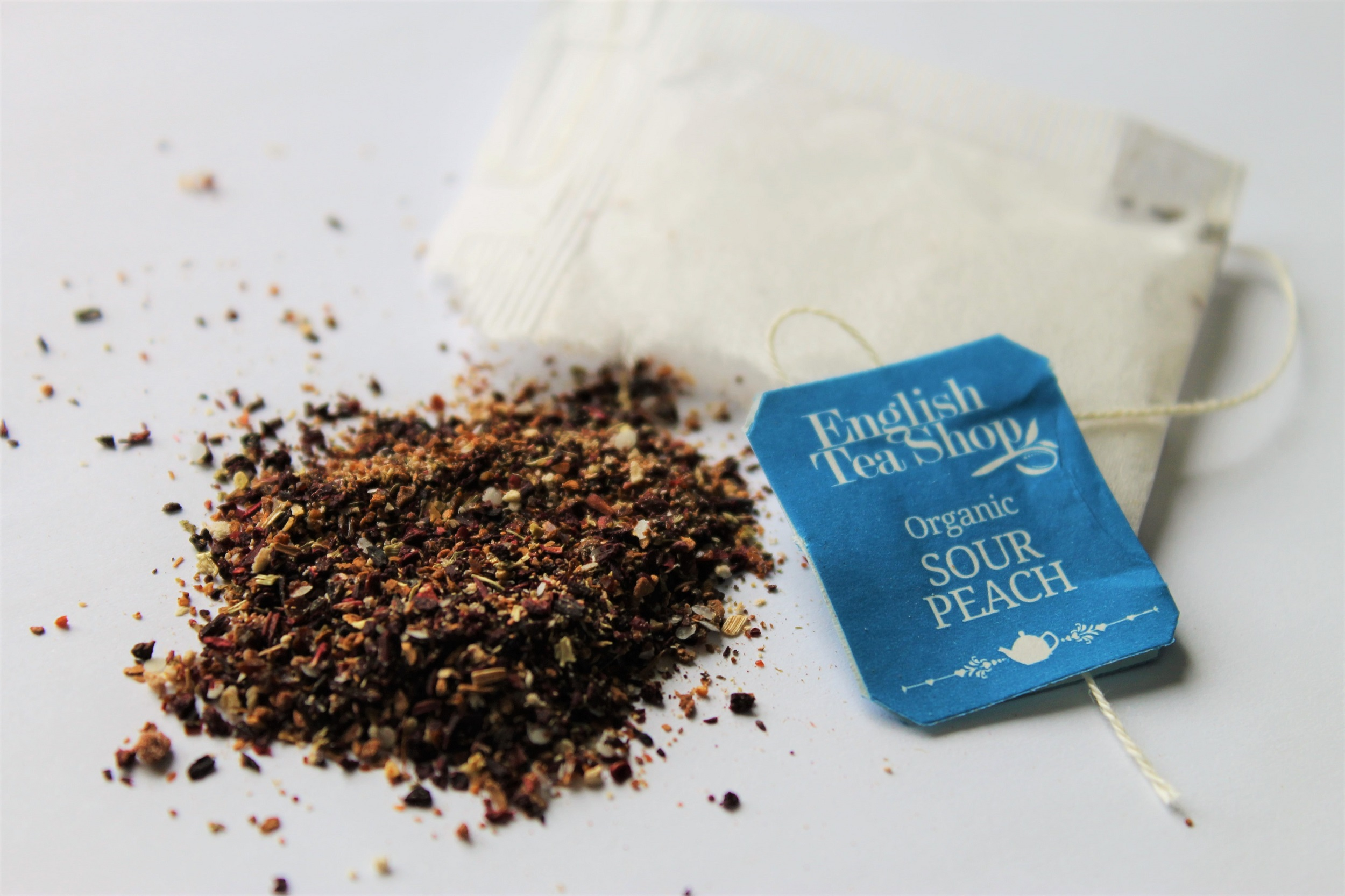 herbal peach tea bag