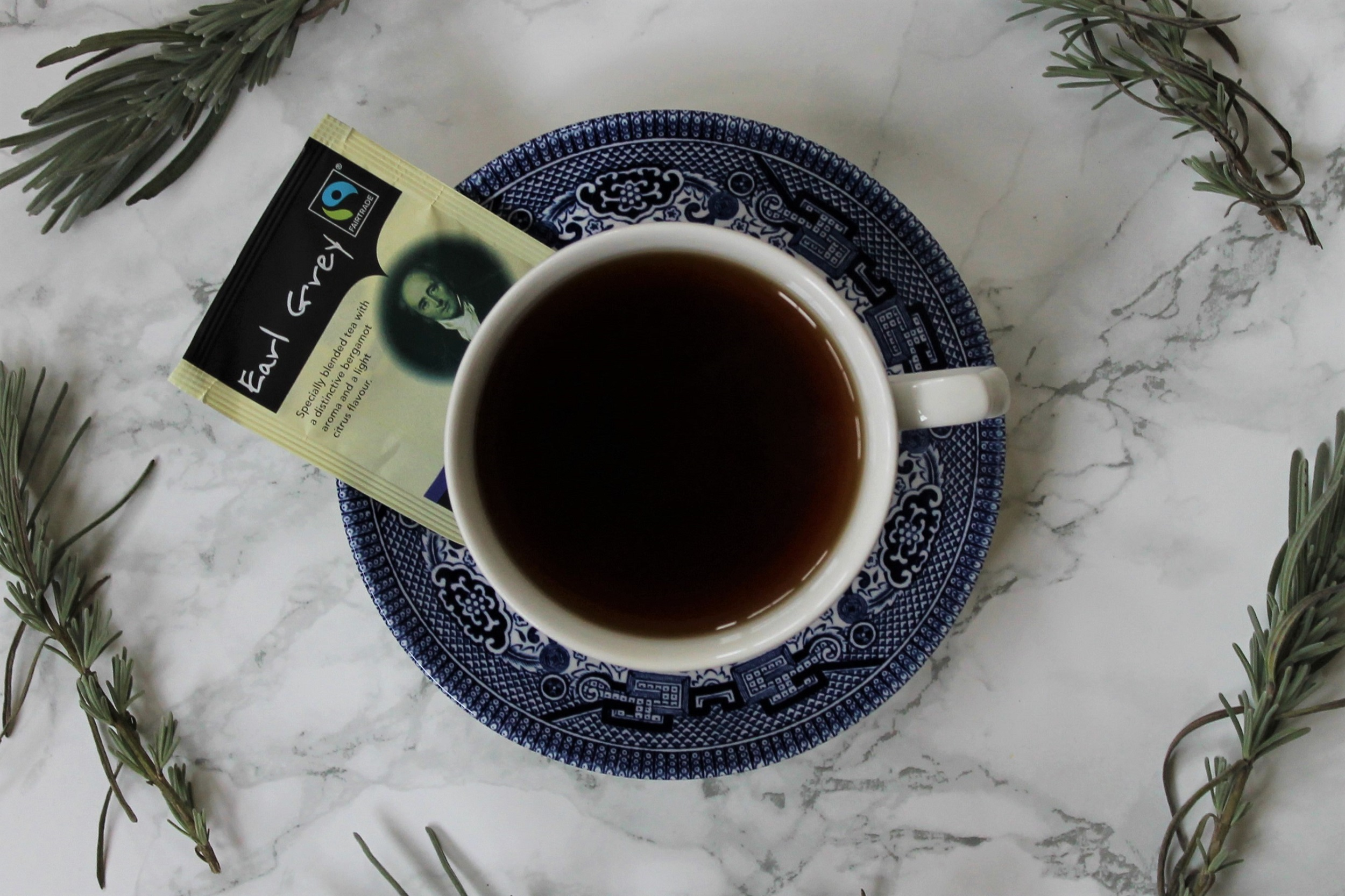 classic earl grey black tea from above