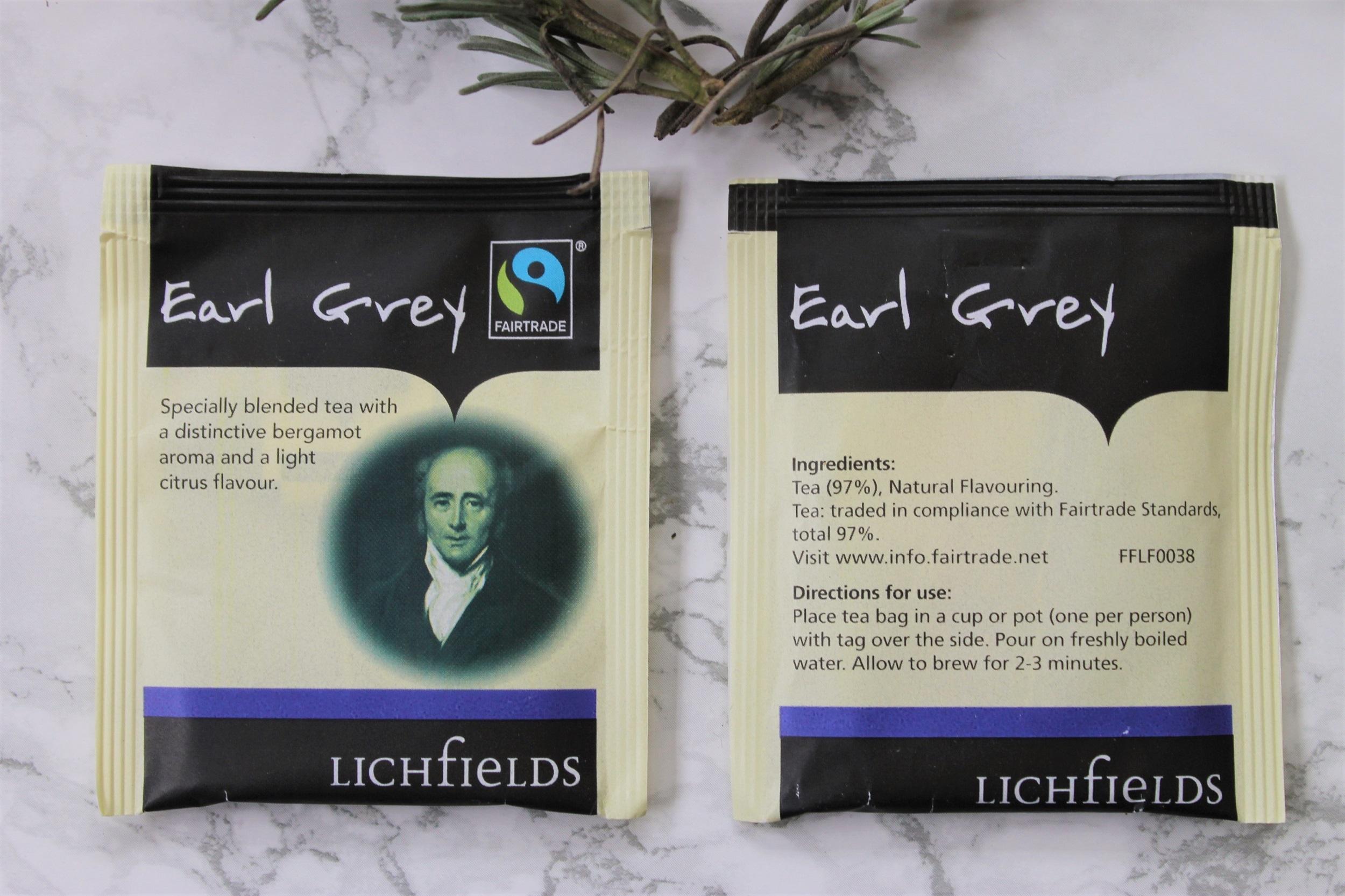 fairtrade earl grey teabags