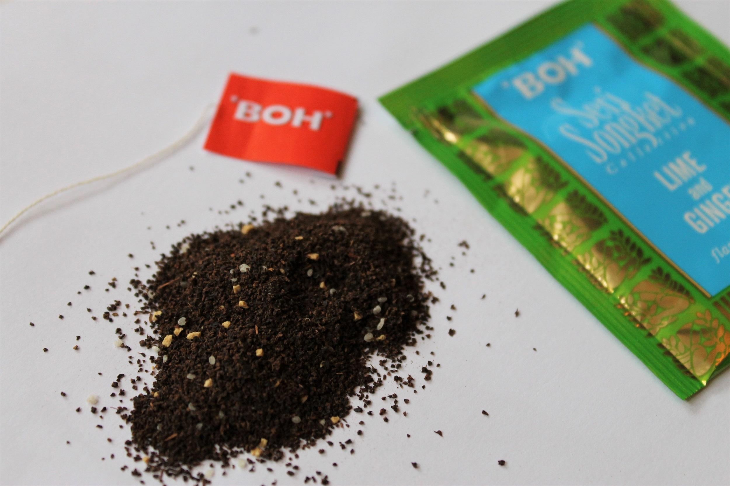 ginger lime black tea leaves