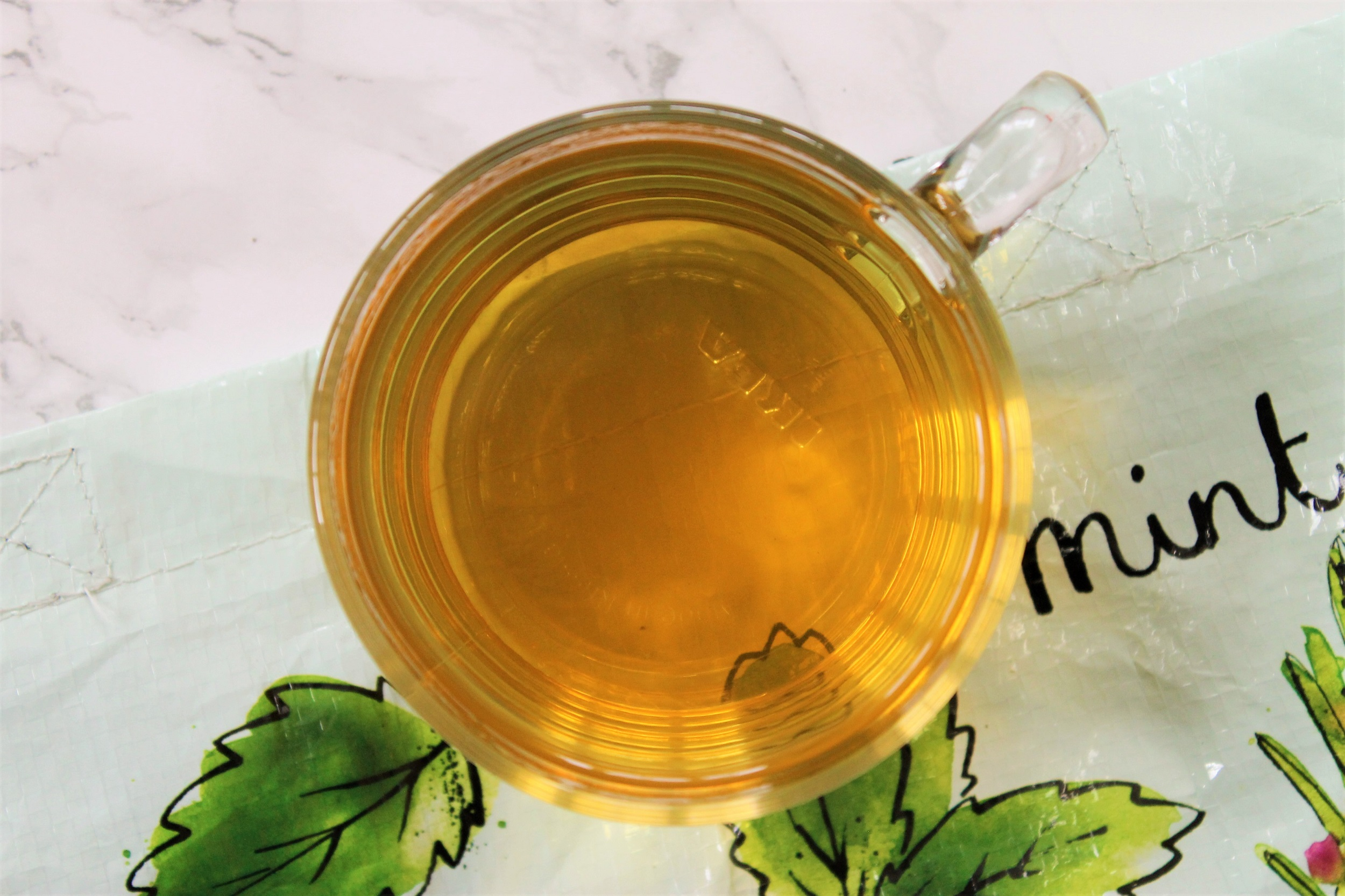 mint tea from above
