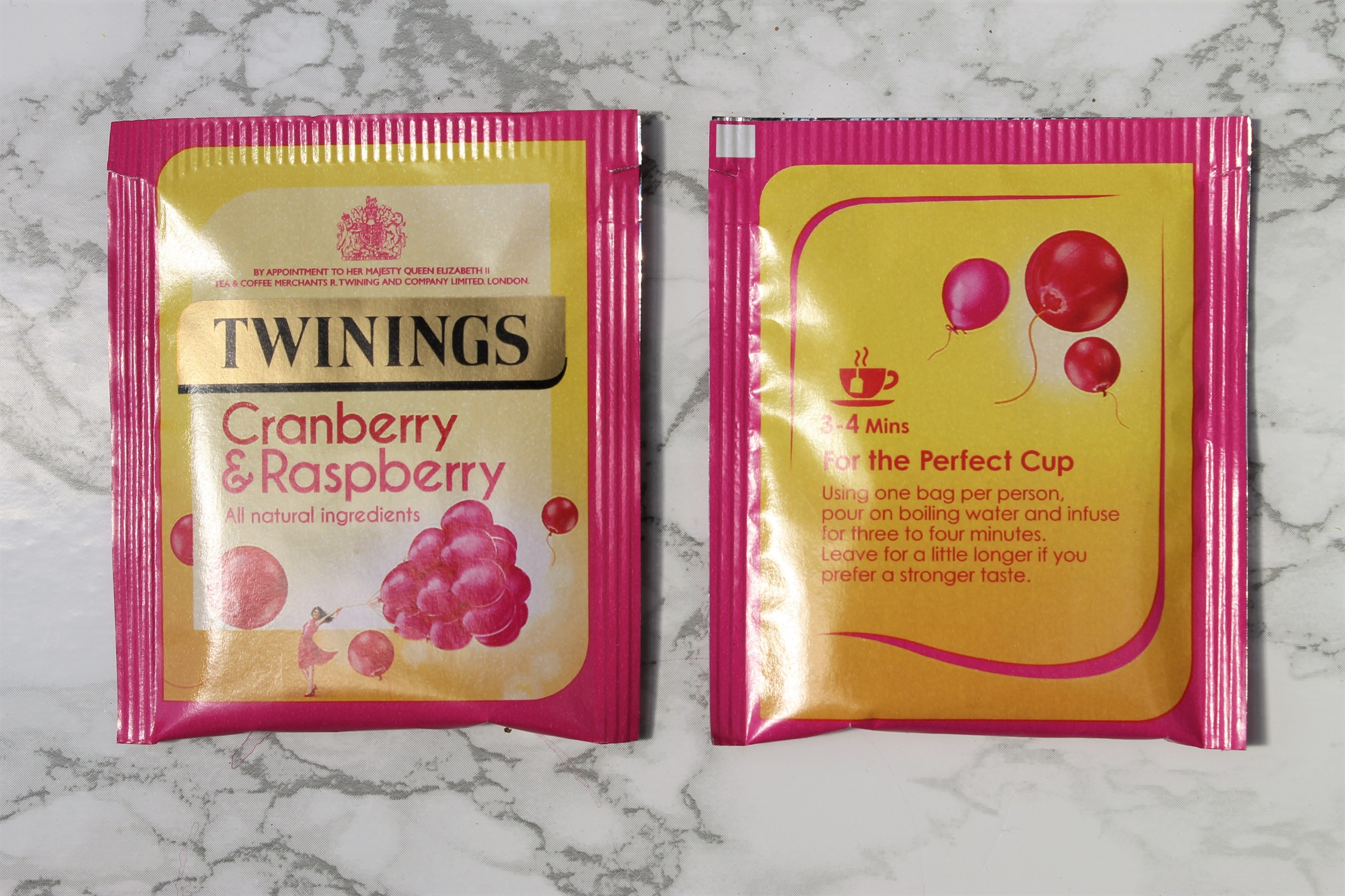 pink cranberry teabags