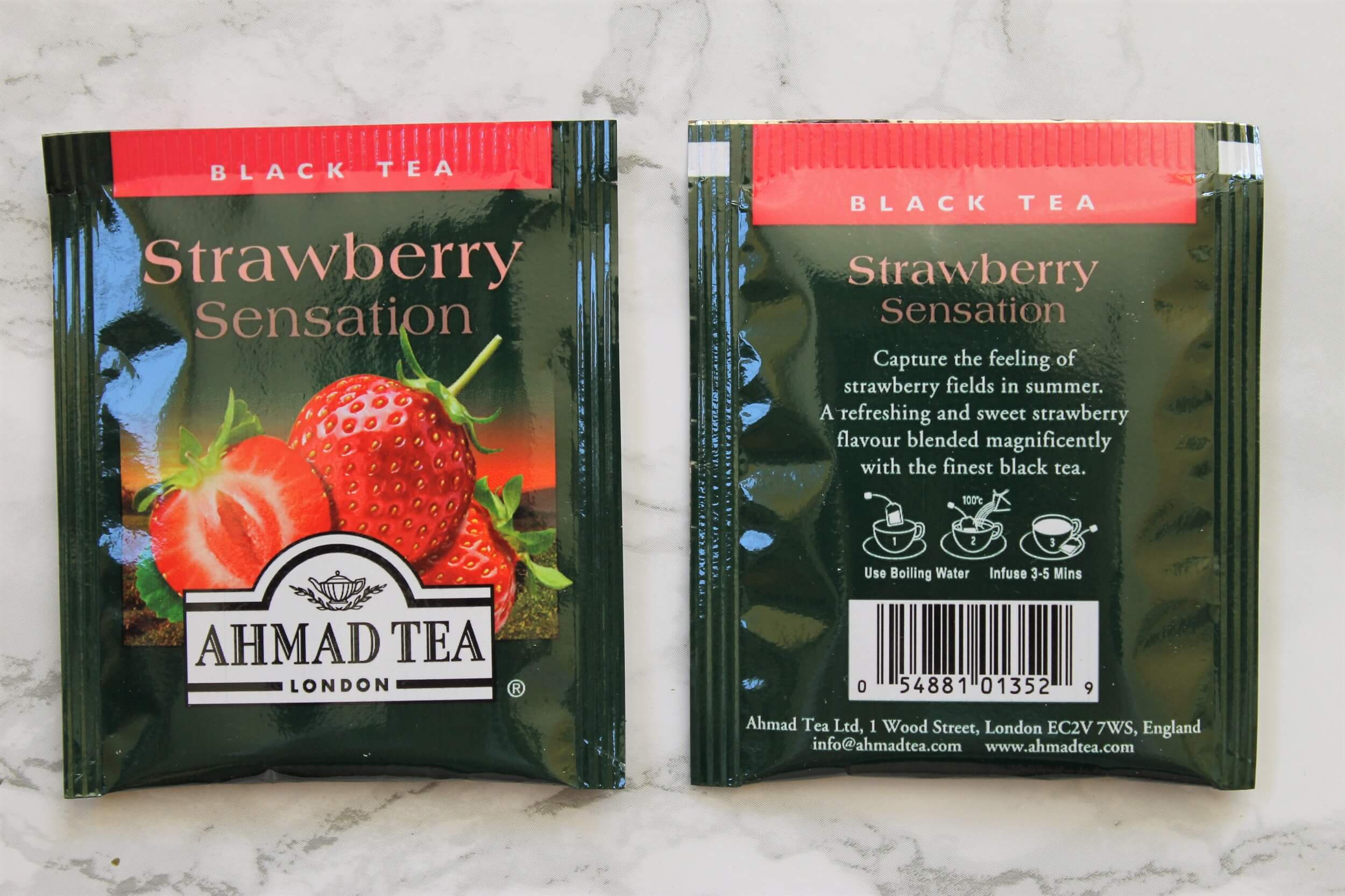 strawberry sensation teabags