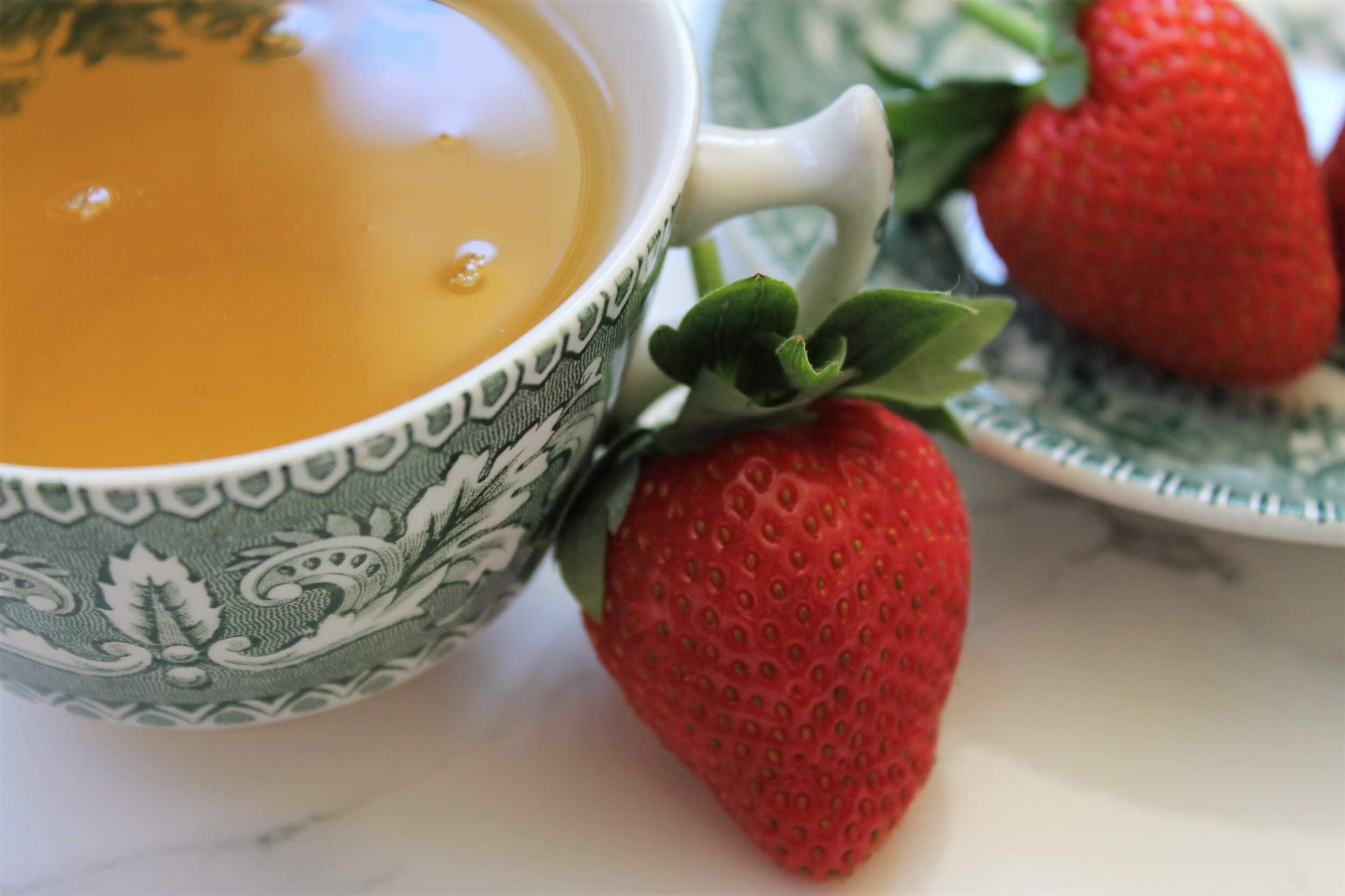 strawberries and cream tea