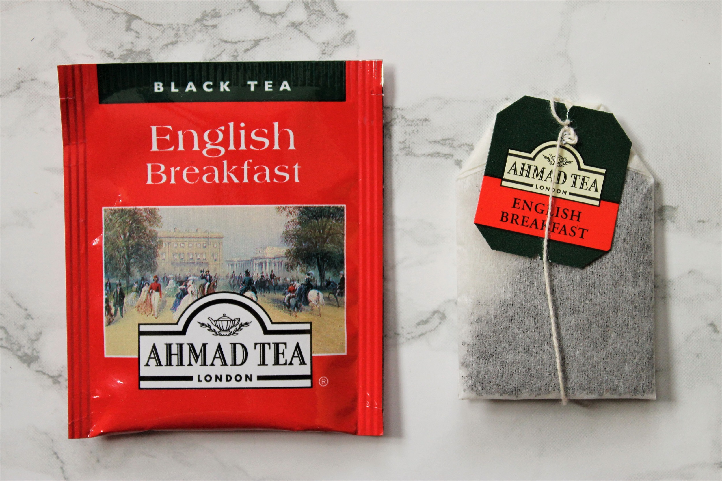 english breakfast foil wrapped teabags