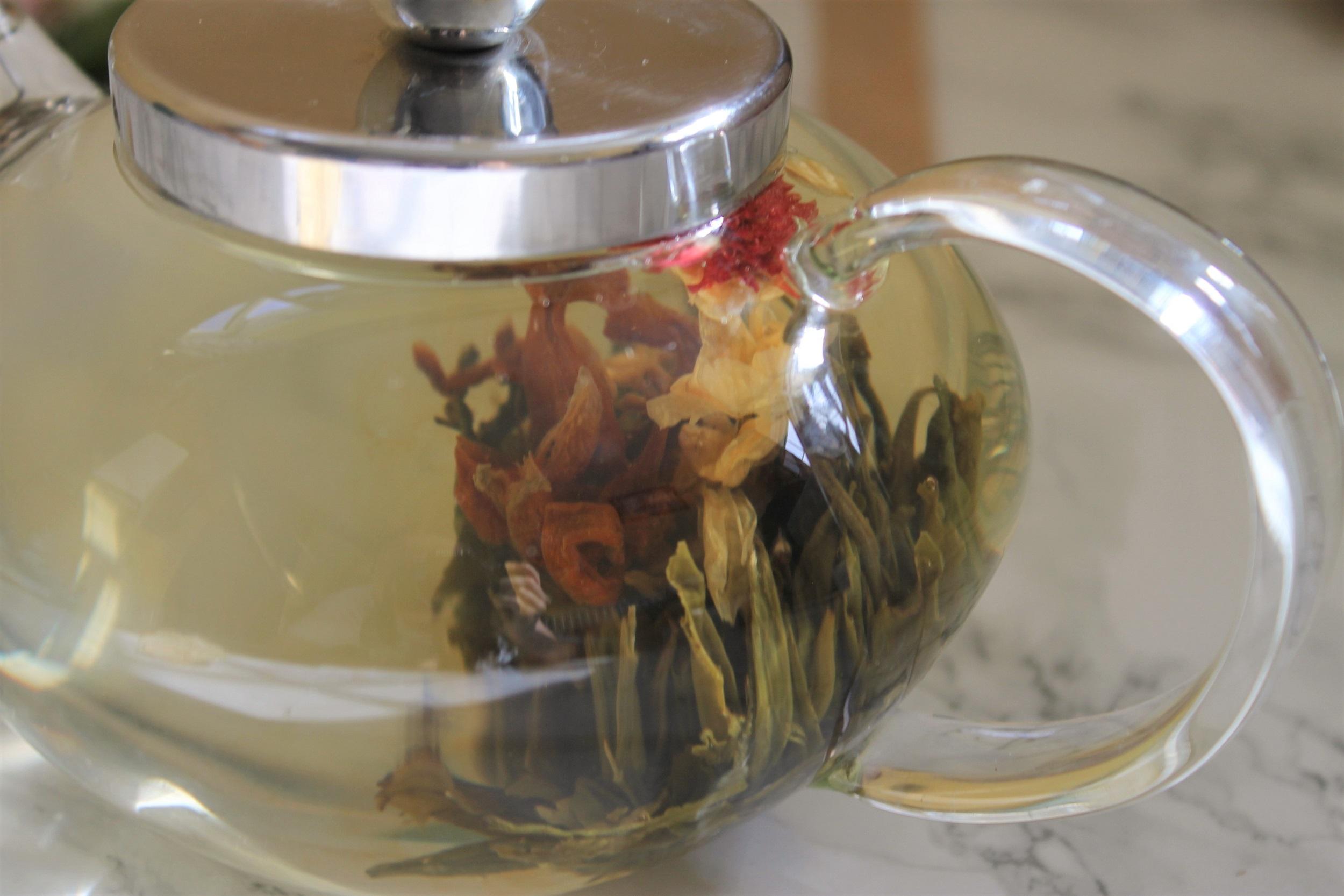 marigold rose blooming tea