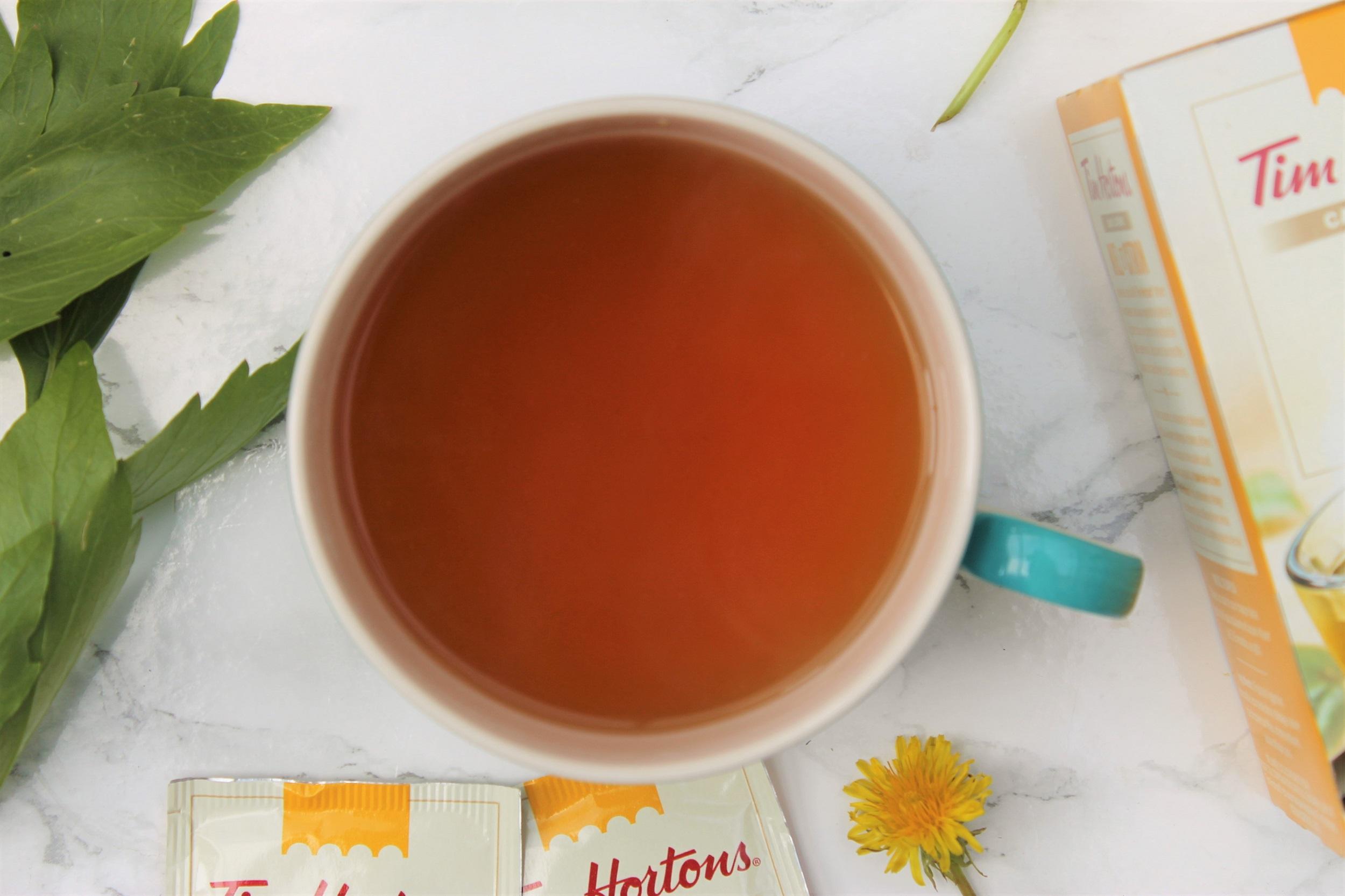 honey lemon tea in teacup