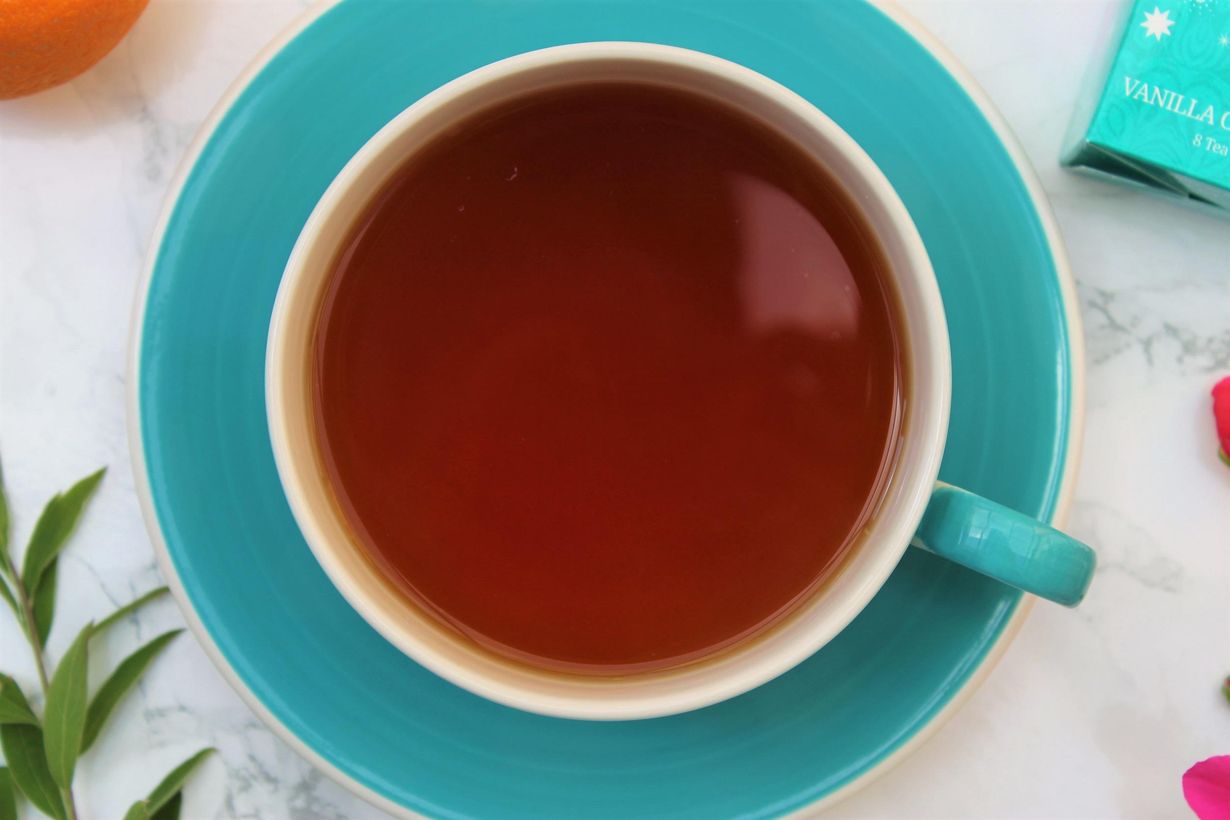 rooibos coconut tea in teacup