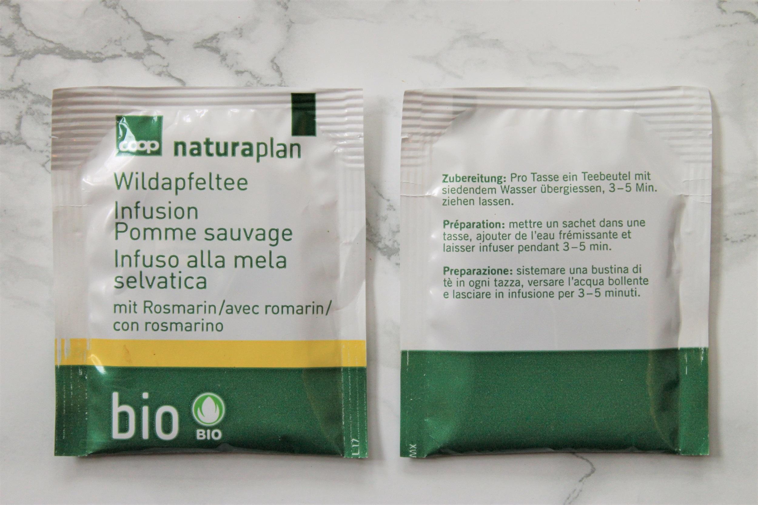 naturaplan wild apple fruit tea