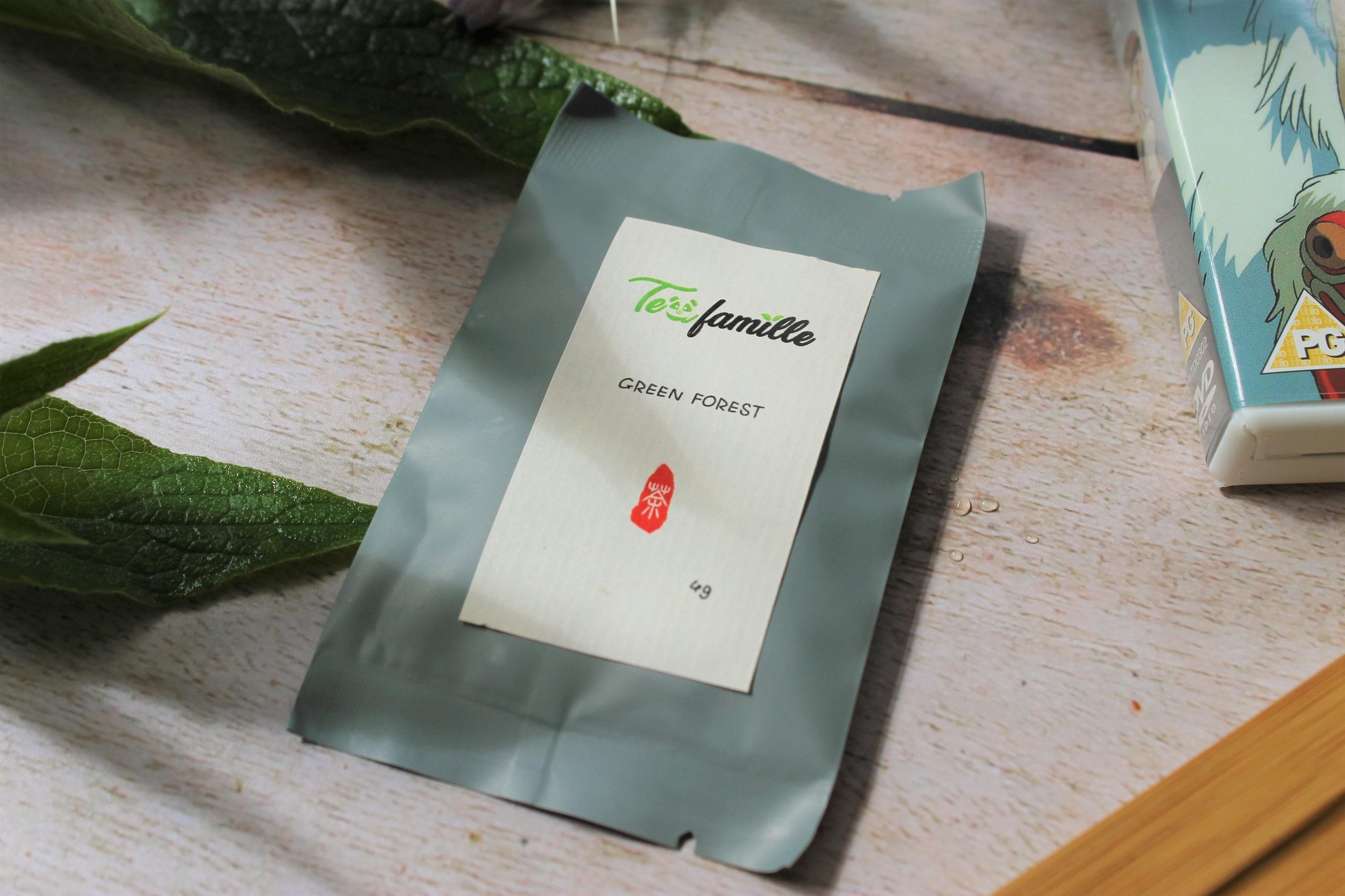 tea famille green forest loose leaf tea package