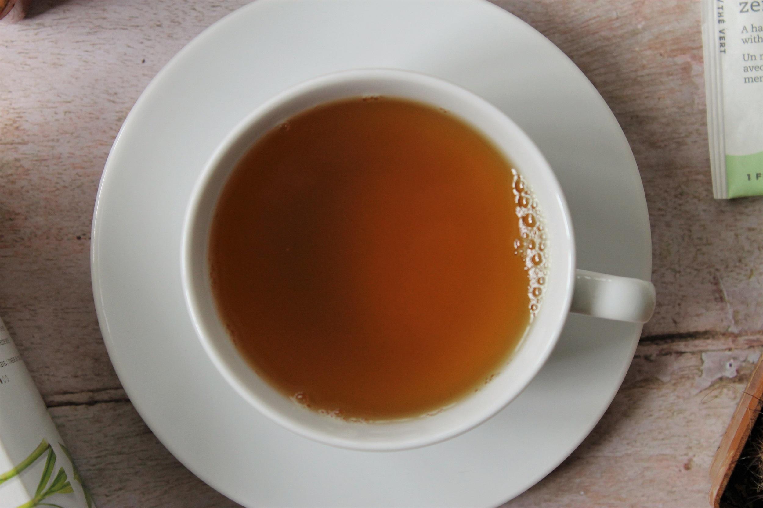 tazo zen tea in teacup